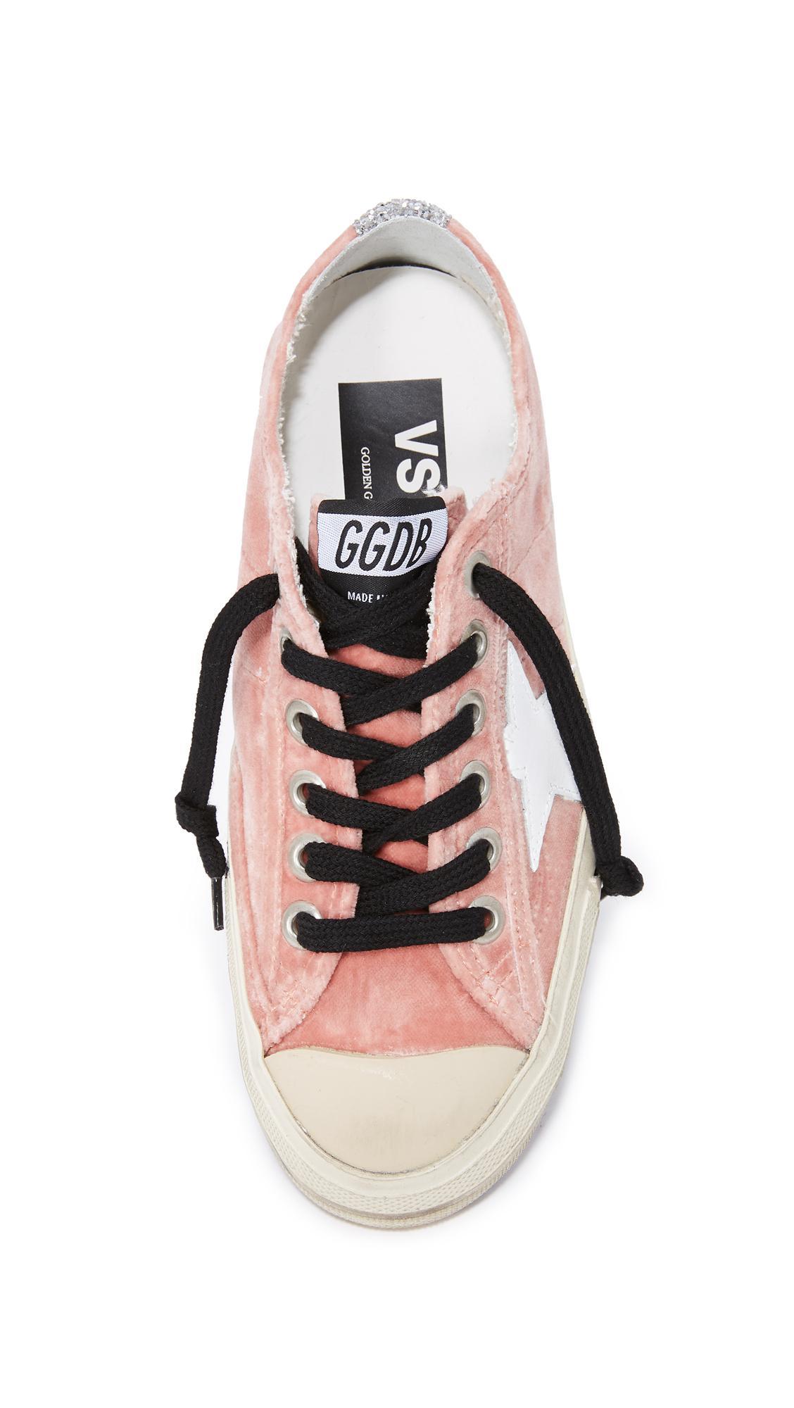 Golden Goose Deluxe Brand V-star Velvet Sneakers