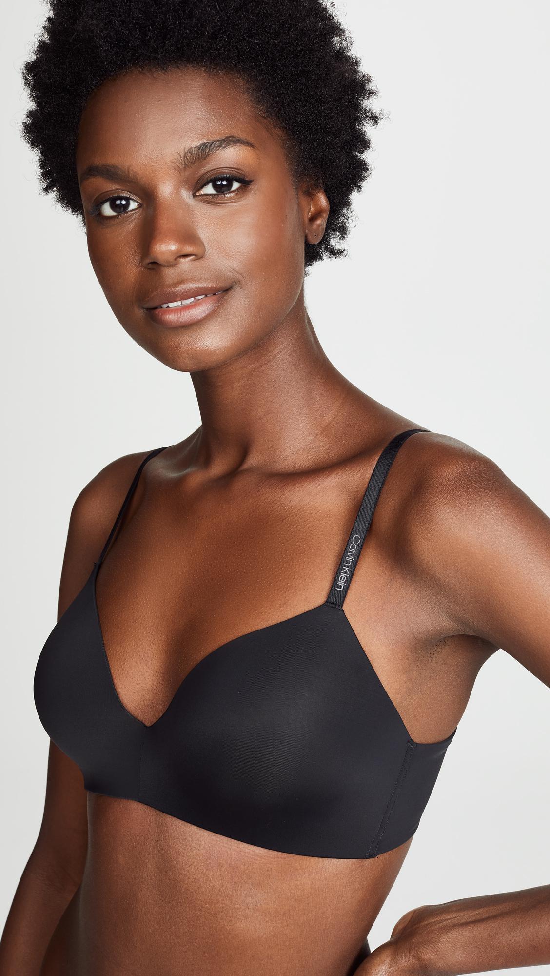 eb5b24ae58236 Calvin Klein - Black Form Lightly Lined Demi Bra - Lyst. View fullscreen