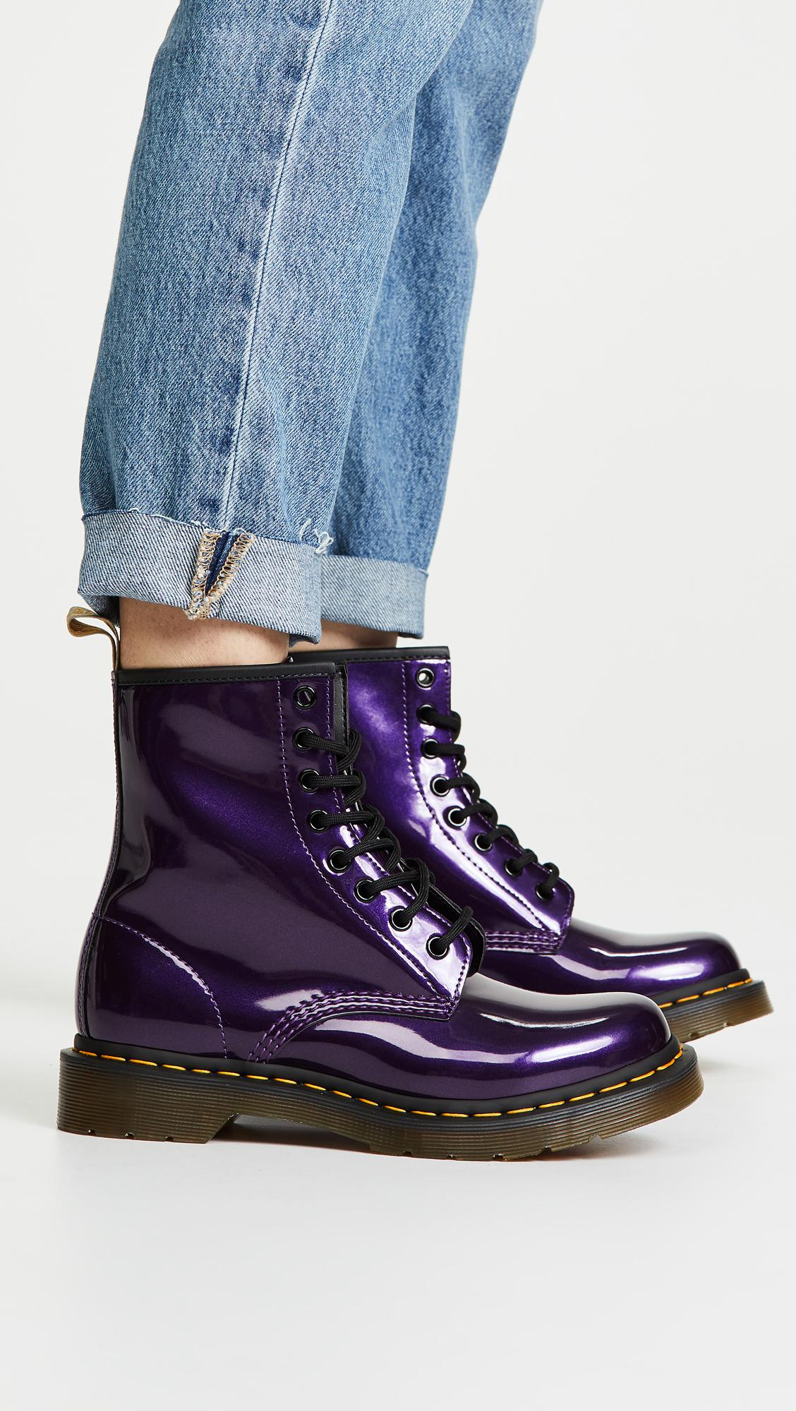 dr martens vegan chrome purple