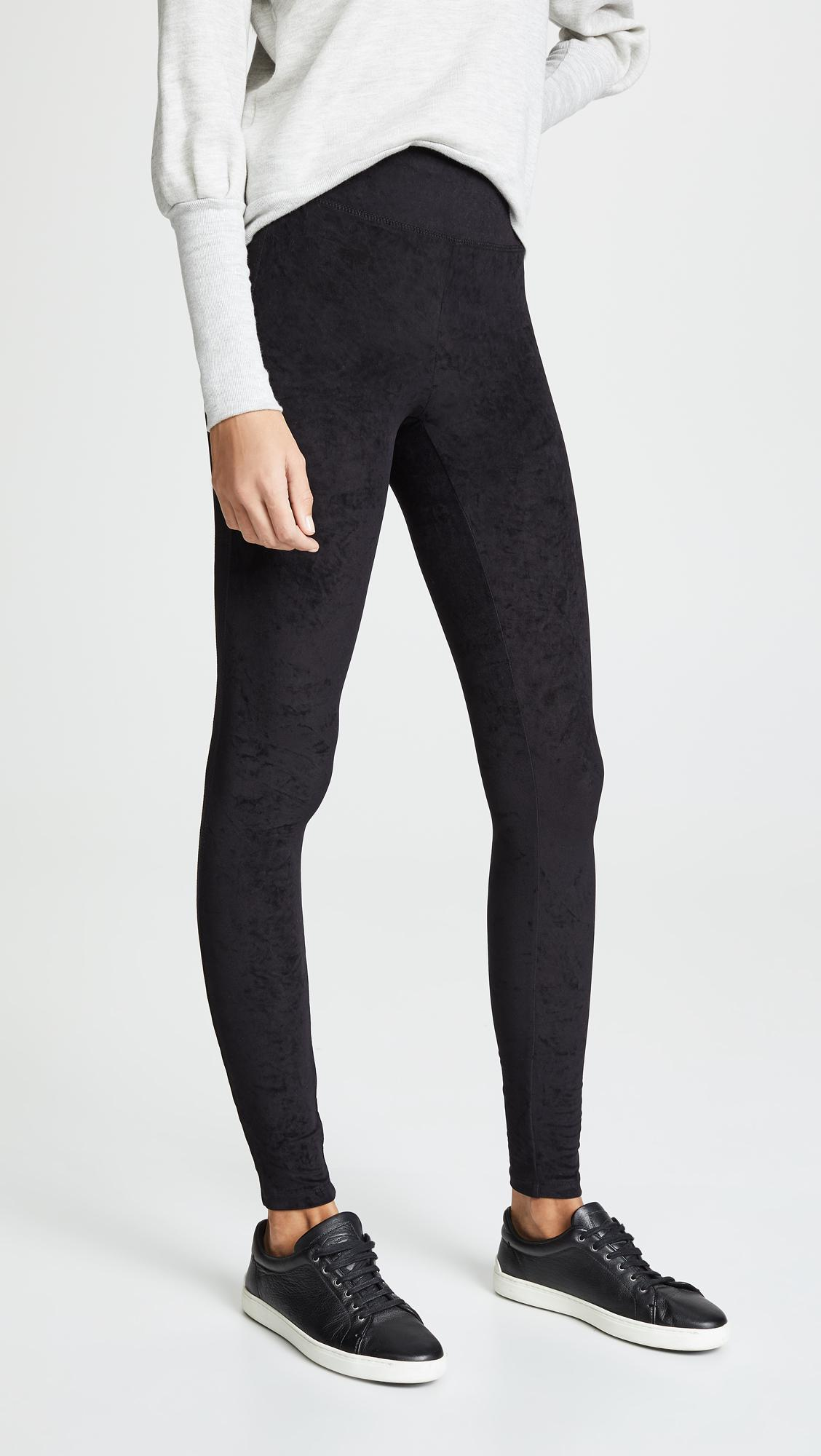 d015837d45e20a Lyst - James Perse High Waist Velvet Leggings in Black