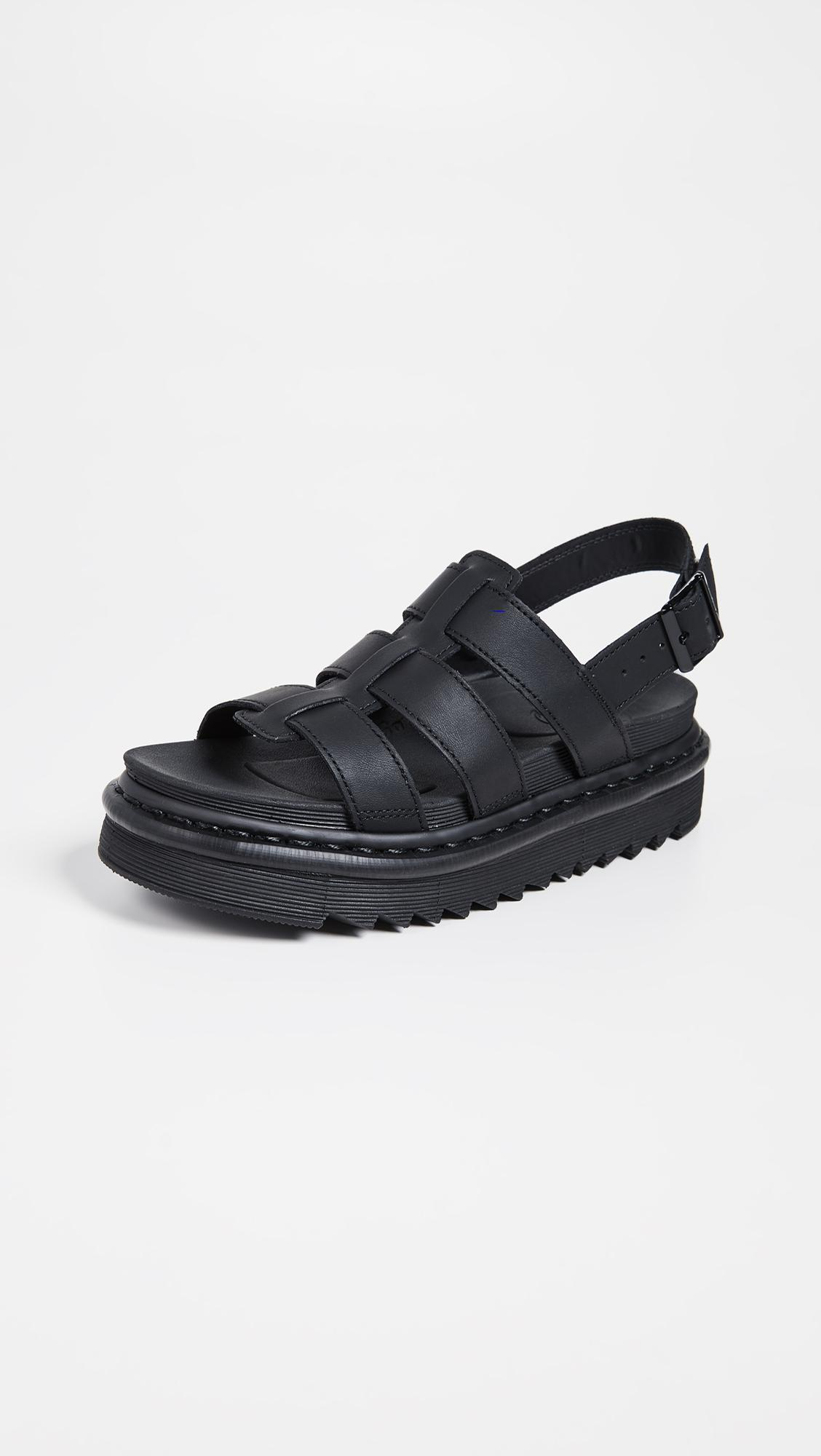 9a9367493d0f Lyst - Dr. Martens Yelena Sandals in Black