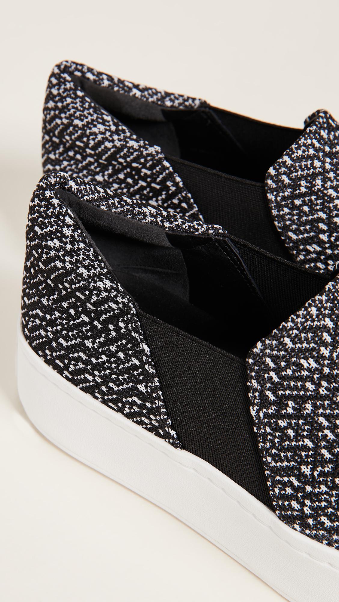 Vince Warren Slip On Sneakers in Black/White (Black)