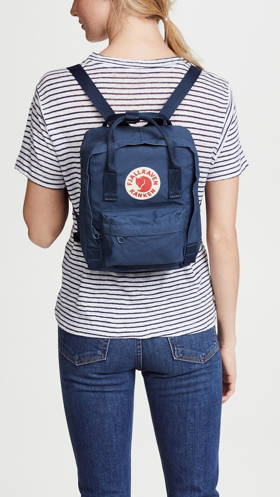 b76ee568927f2 ... Fjallraven - Blue Kanken Mini Backpack - Lyst. Visit Shopbop. Tap to  visit site