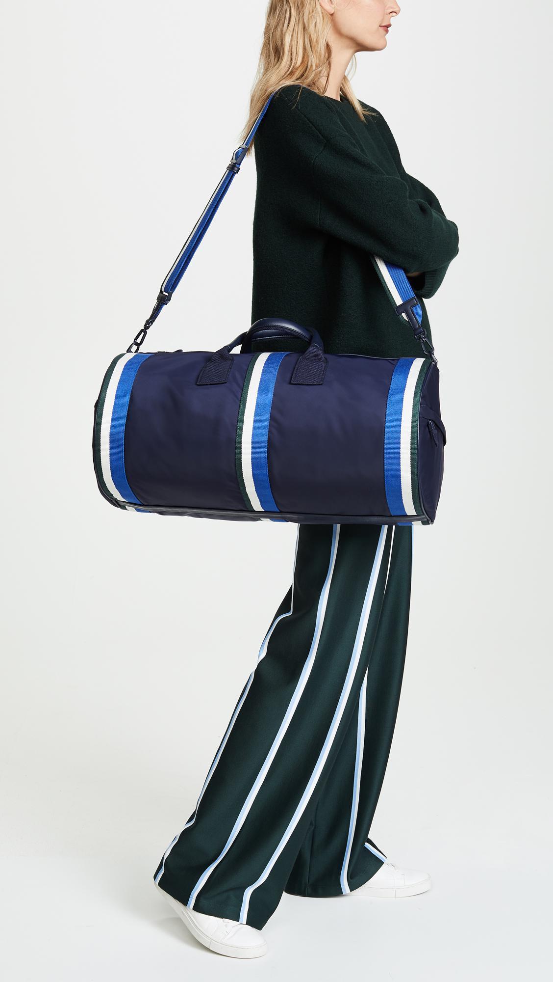0eacf0e573d8a7 Tory Sport Retro Striped Weekender Duffel Bag in Blue - Lyst