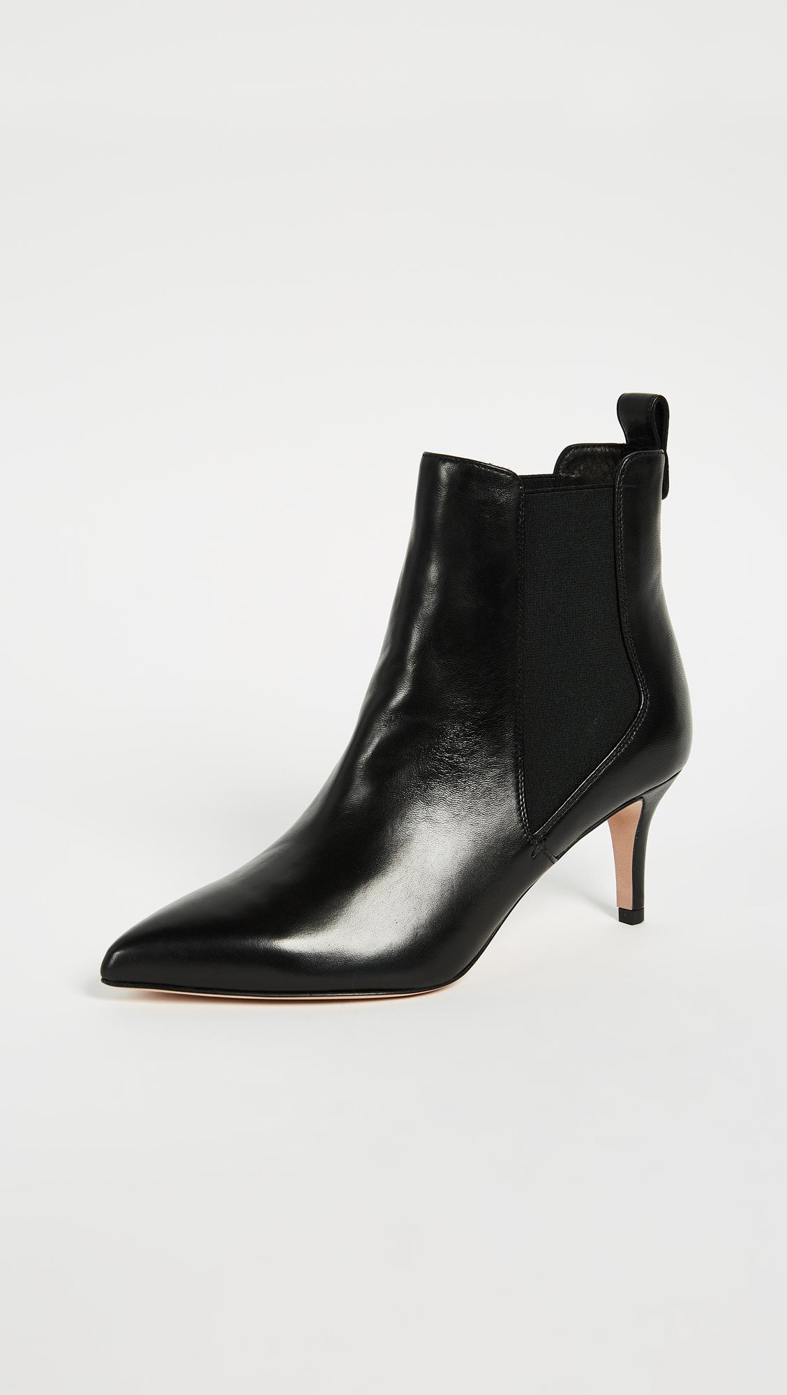Veronica Beard Leather Parker Chelsea Booties In Black Lyst