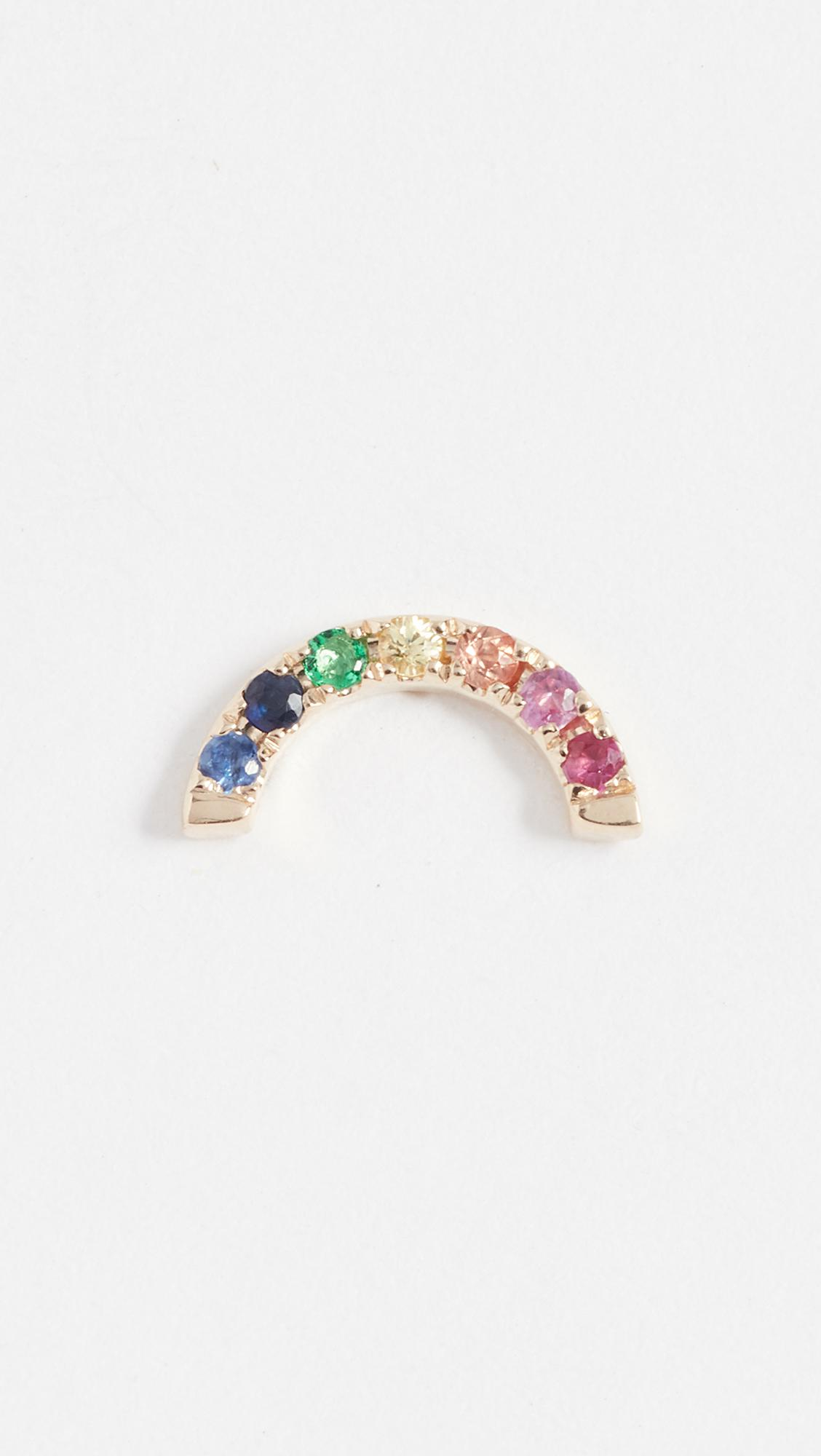 EF Collection 14k Gold Rainbow Ear Cuff jvvg0xfdtc