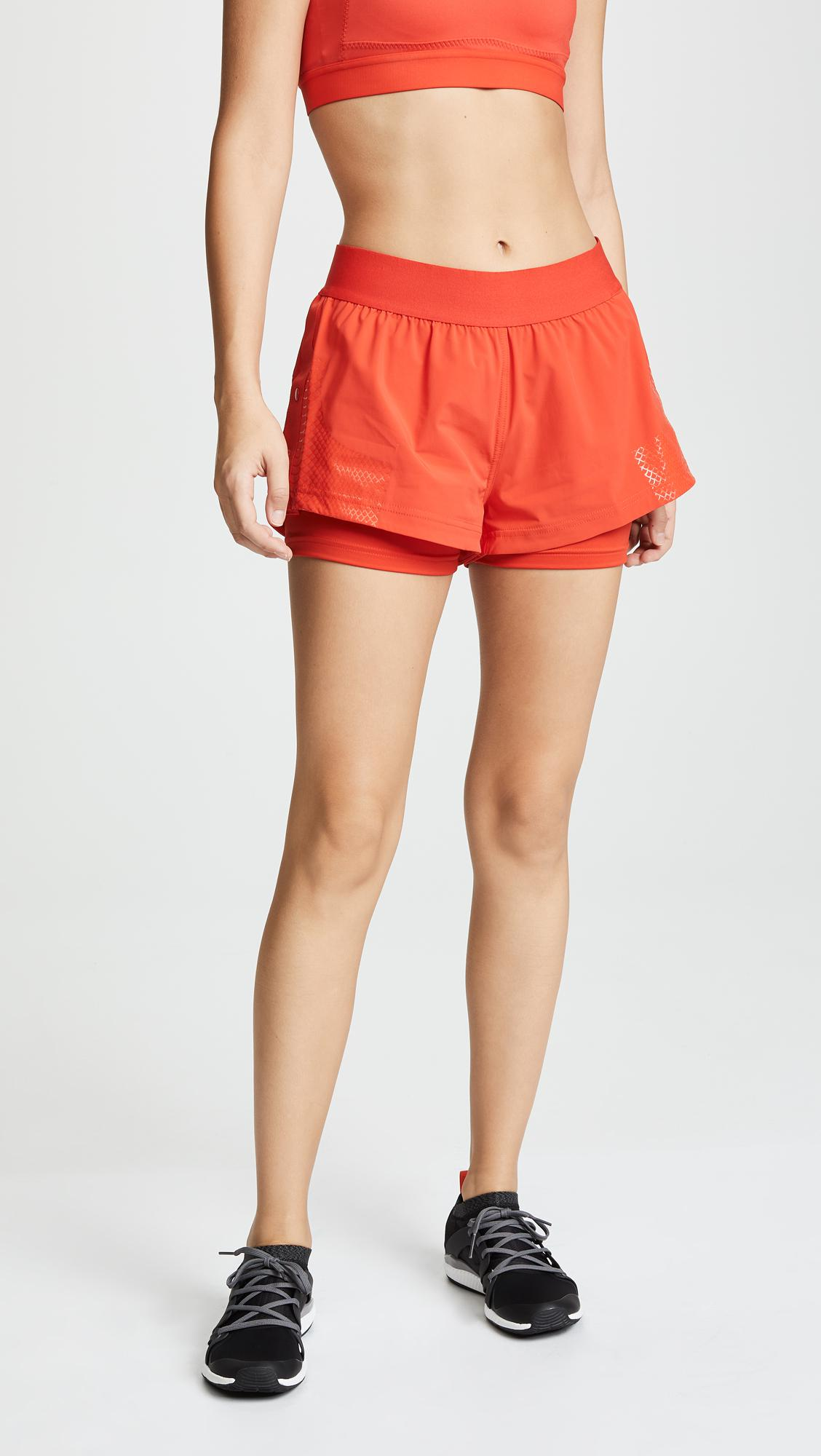 84464fd2a Adidas By Stella Mccartney Training Shorts in Red - Lyst