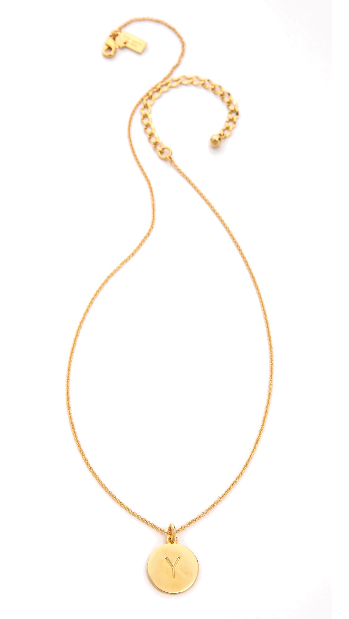 Kate Spade Letter Pendant Necklace in y (Metallic)