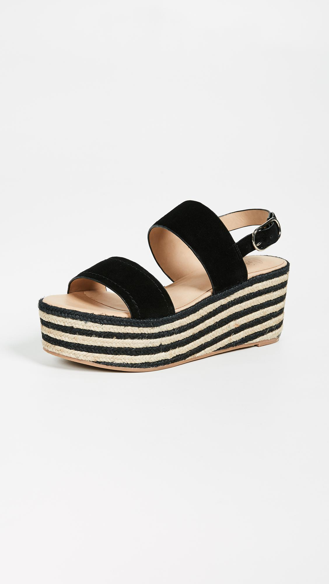 78aba40f592 Joie Galicia Two Band Wedges in Black - Save 47% - Lyst