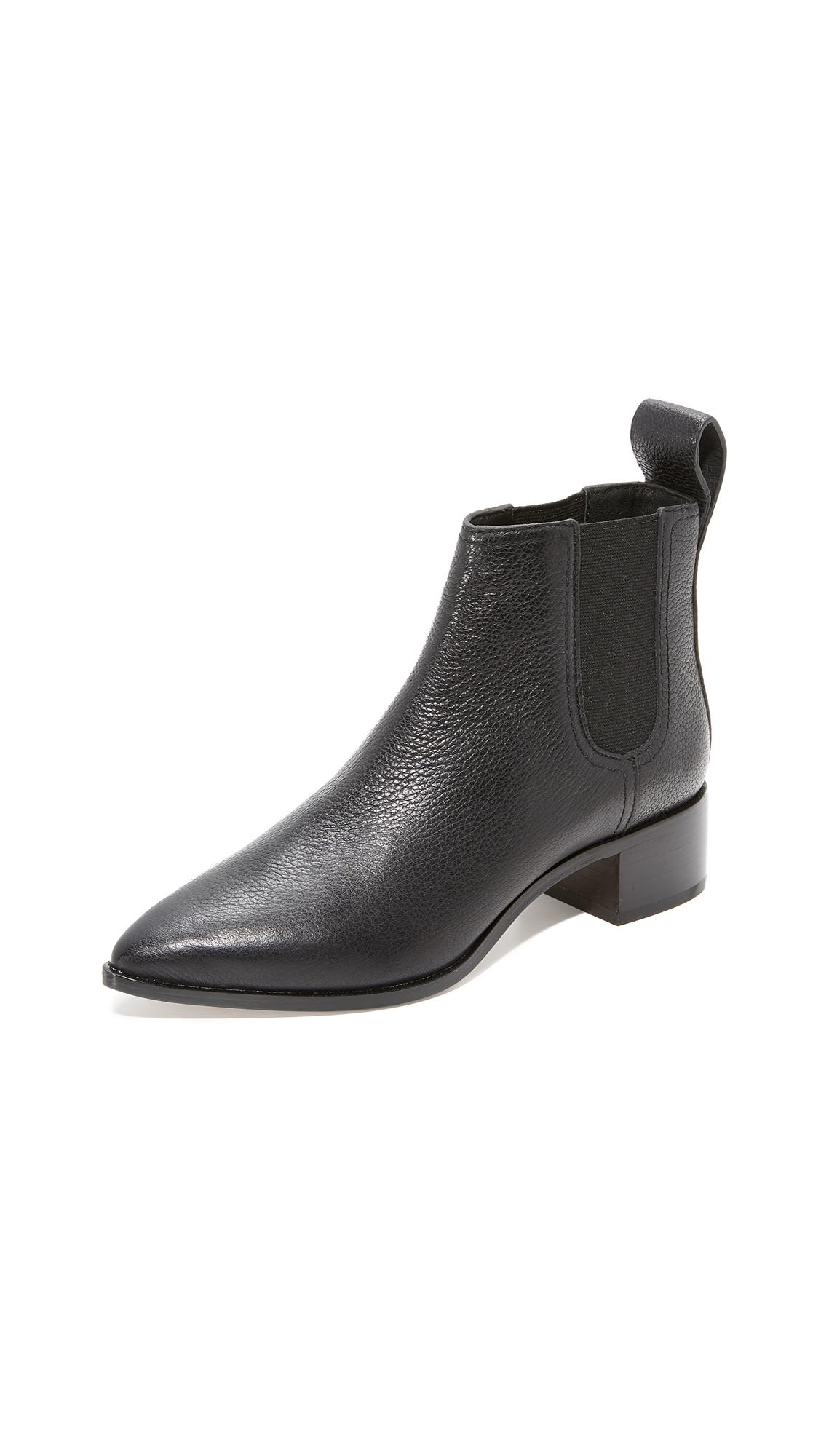 2d76a81174d46 Loeffler Randall Nellie Pointed Toe Chelsea Booties in Black - Lyst