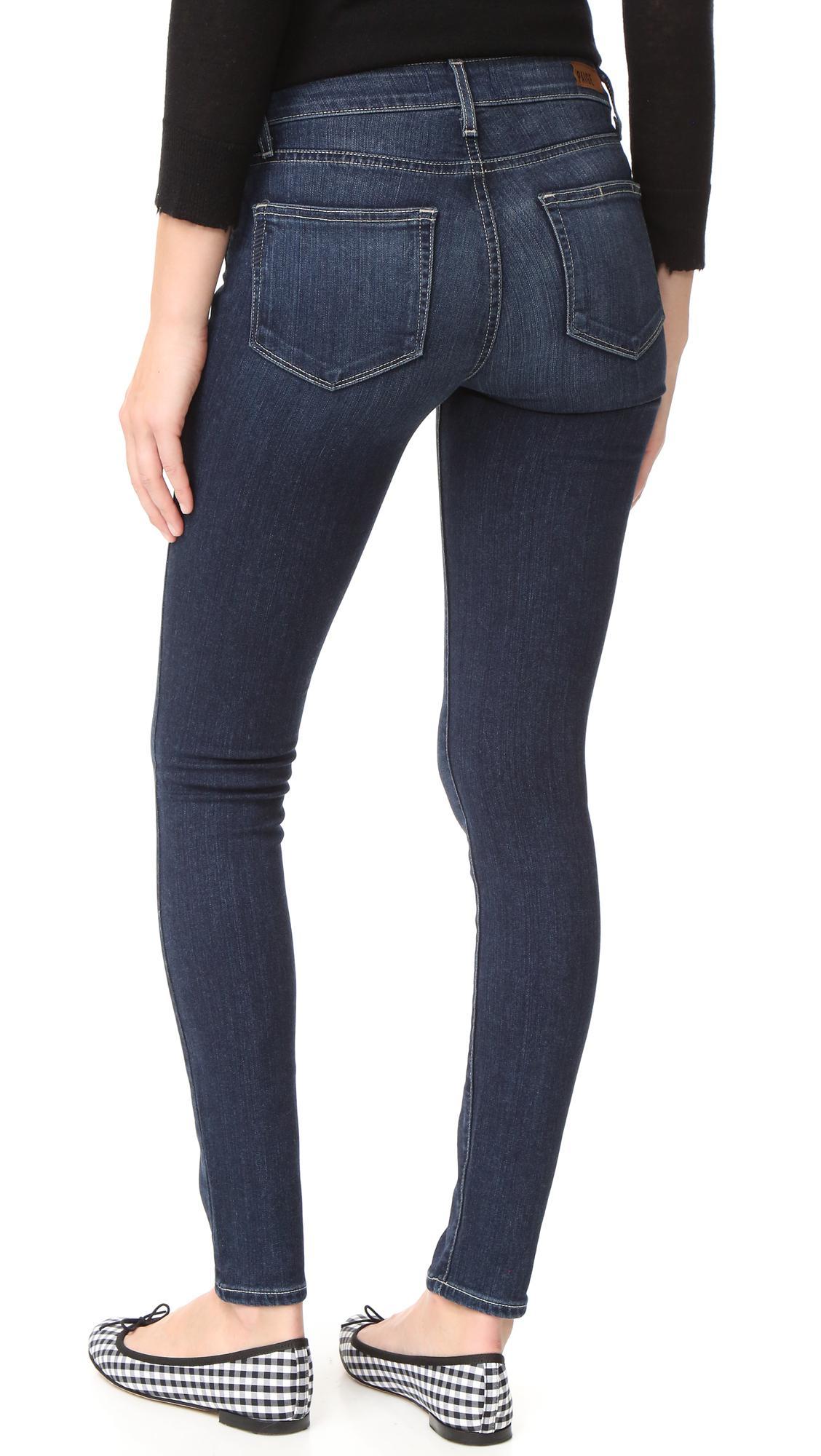 PAIGE Denim Transcend Vedugo Ultra Skinny Jeans in Blue
