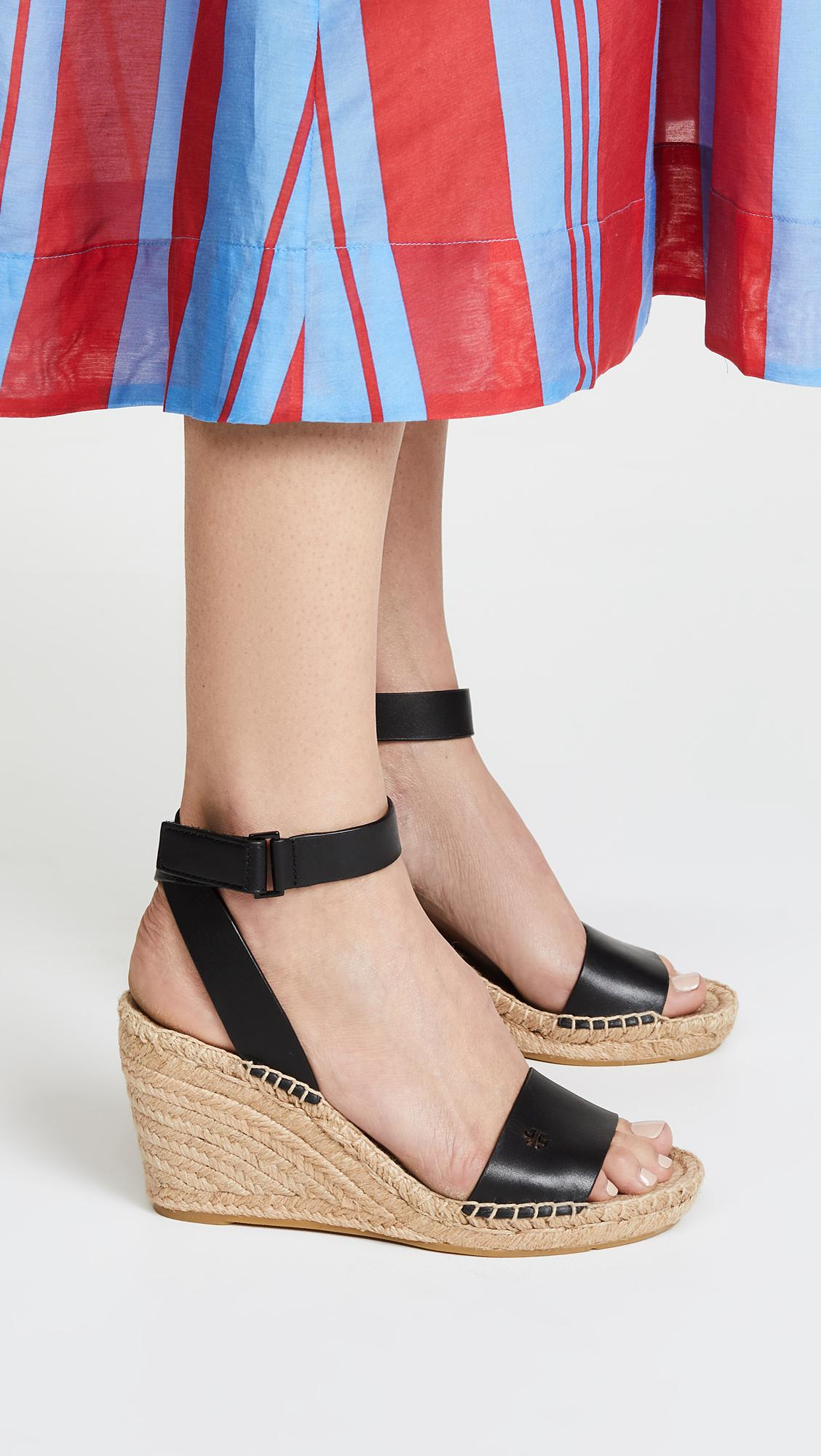 e96189f937d Lyst - Tory Burch Bima 2 90mm Wedge Espadrilles in Black