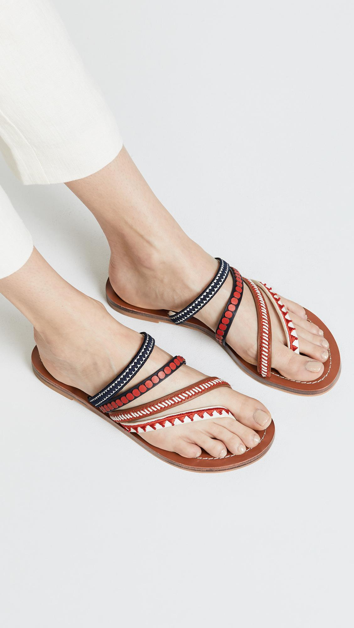 c171a787956 Lyst - Tory Burch Patos Embroidered Sandals