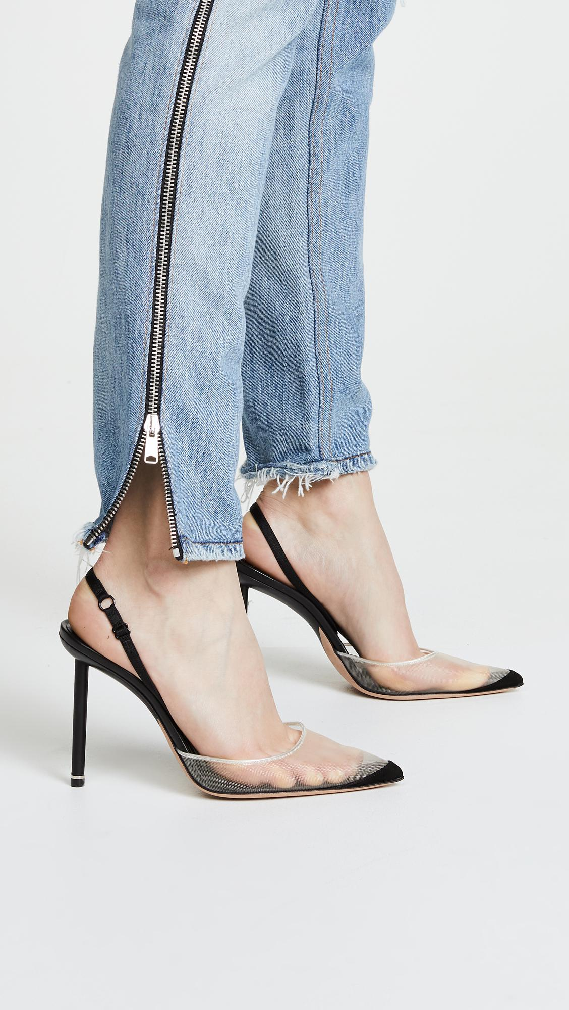 00480e736c2 Alexander Wang Black Alix High Heel Slingback Pumps