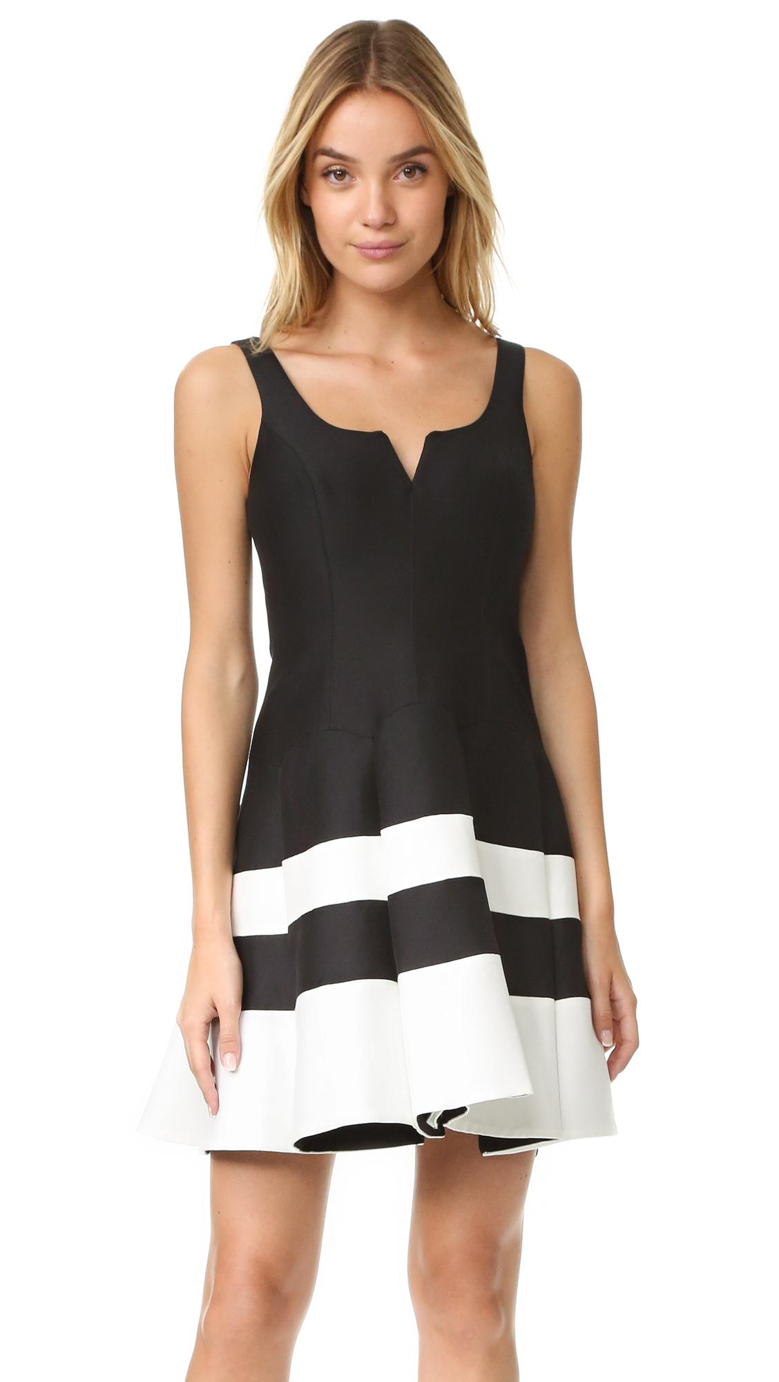 Lyst halston heritage colorblock structured dress in black for Halston heritage shirt dress