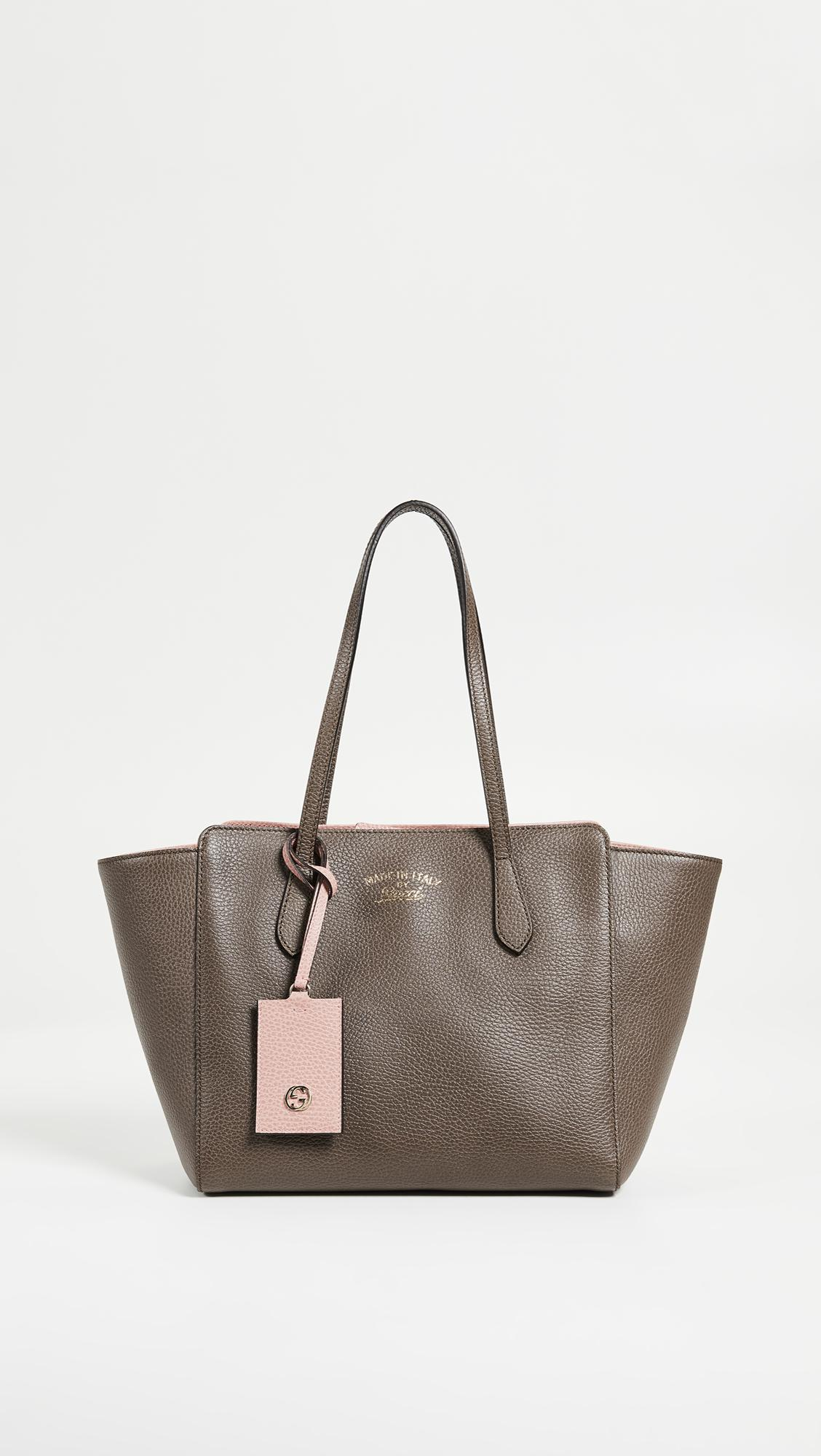 3774cf51146 Lyst - What Goes Around Comes Around Gucci Swing Tote in Gray