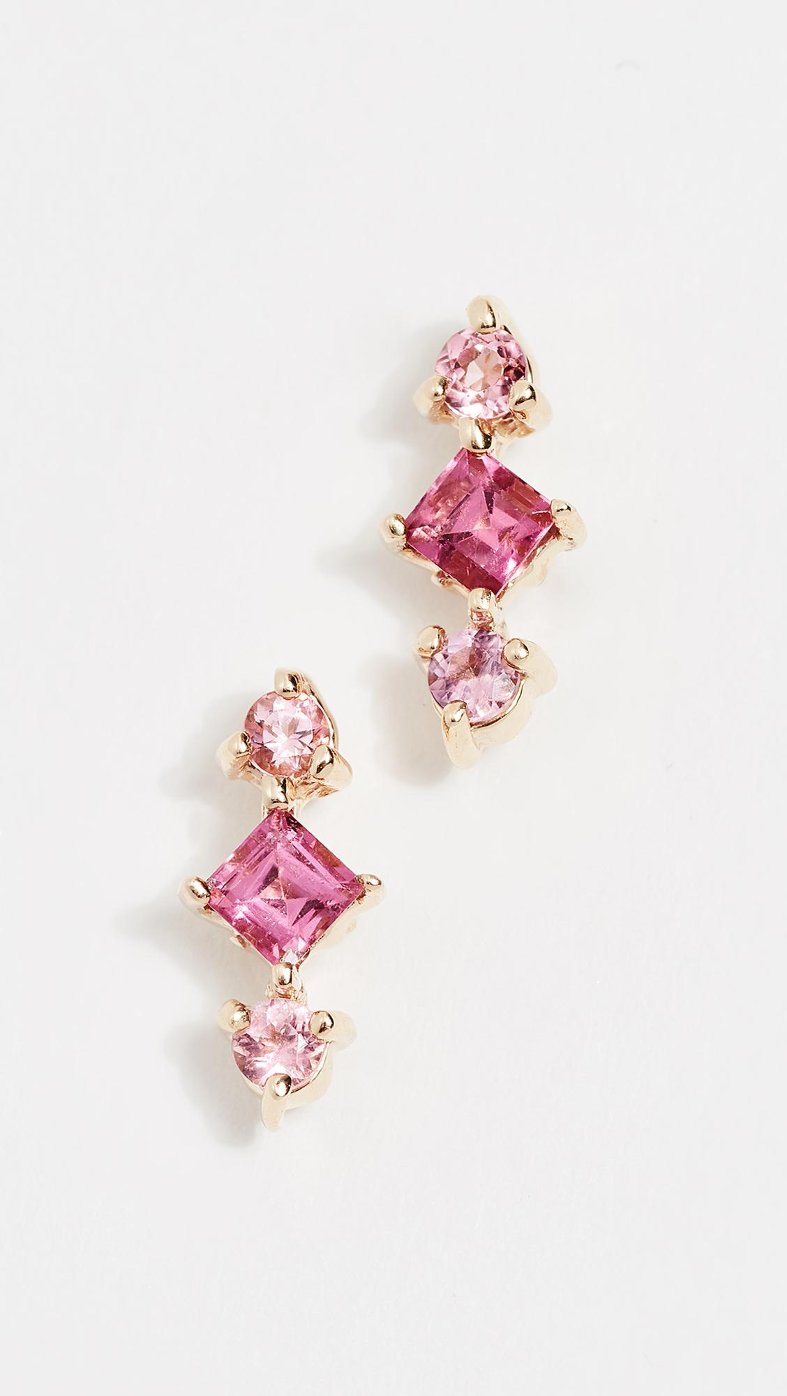 Eden Presley 14k Gold Shades Tourmaline Earrings fHLWXy