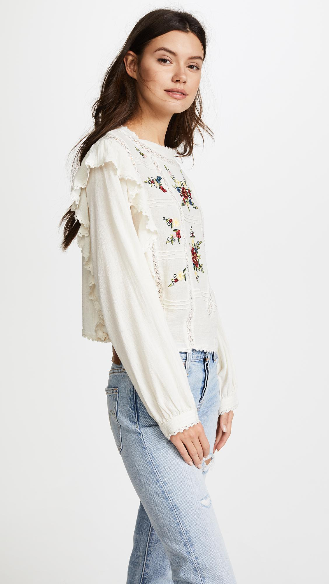 af52d1511dff4f Free People The Amy Top - Lyst