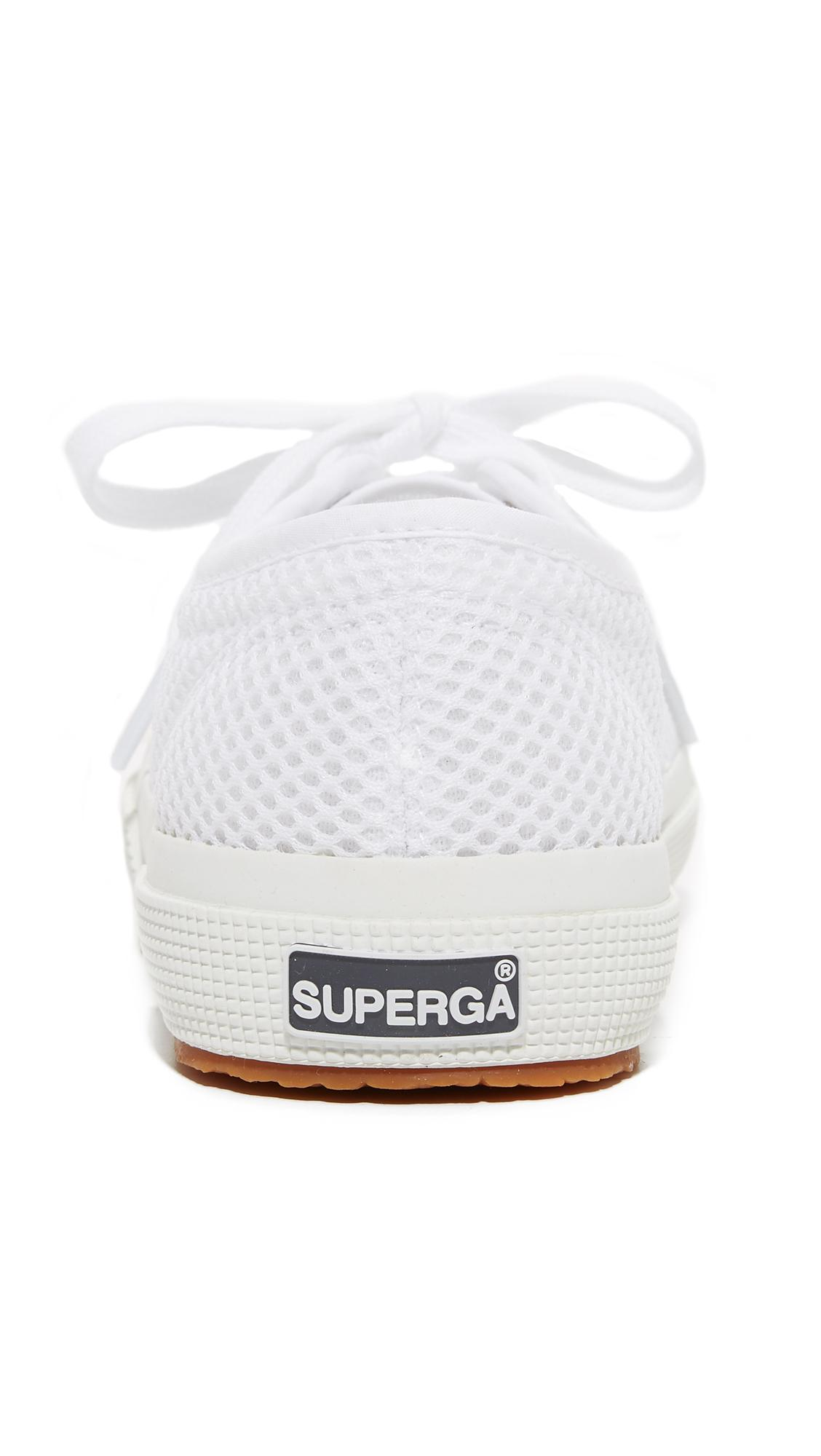 Superga Lace 2750 Mesh Cotu Sneakers in White