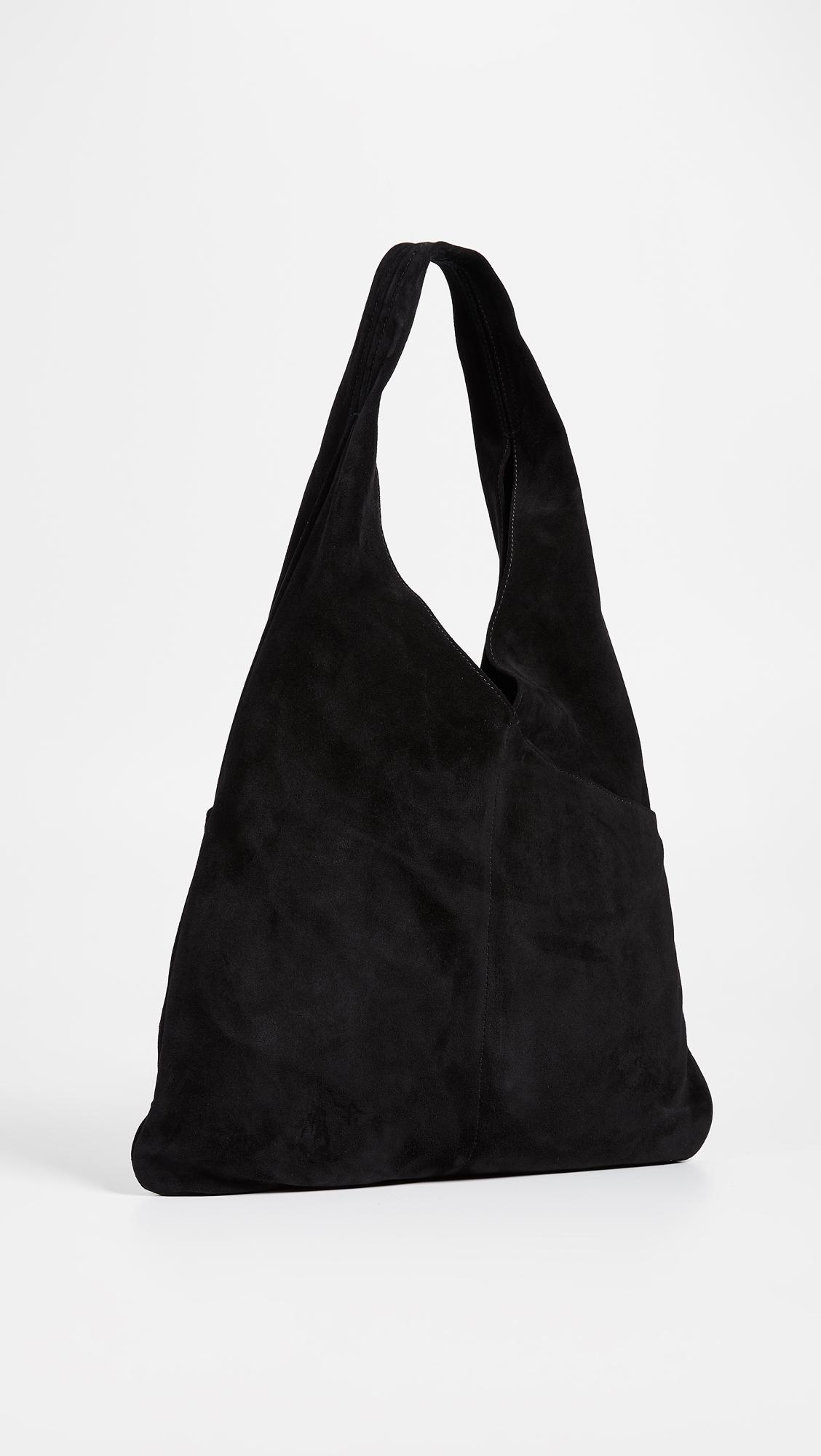 A.L.C. Leather Flat Sadie Tote in Black
