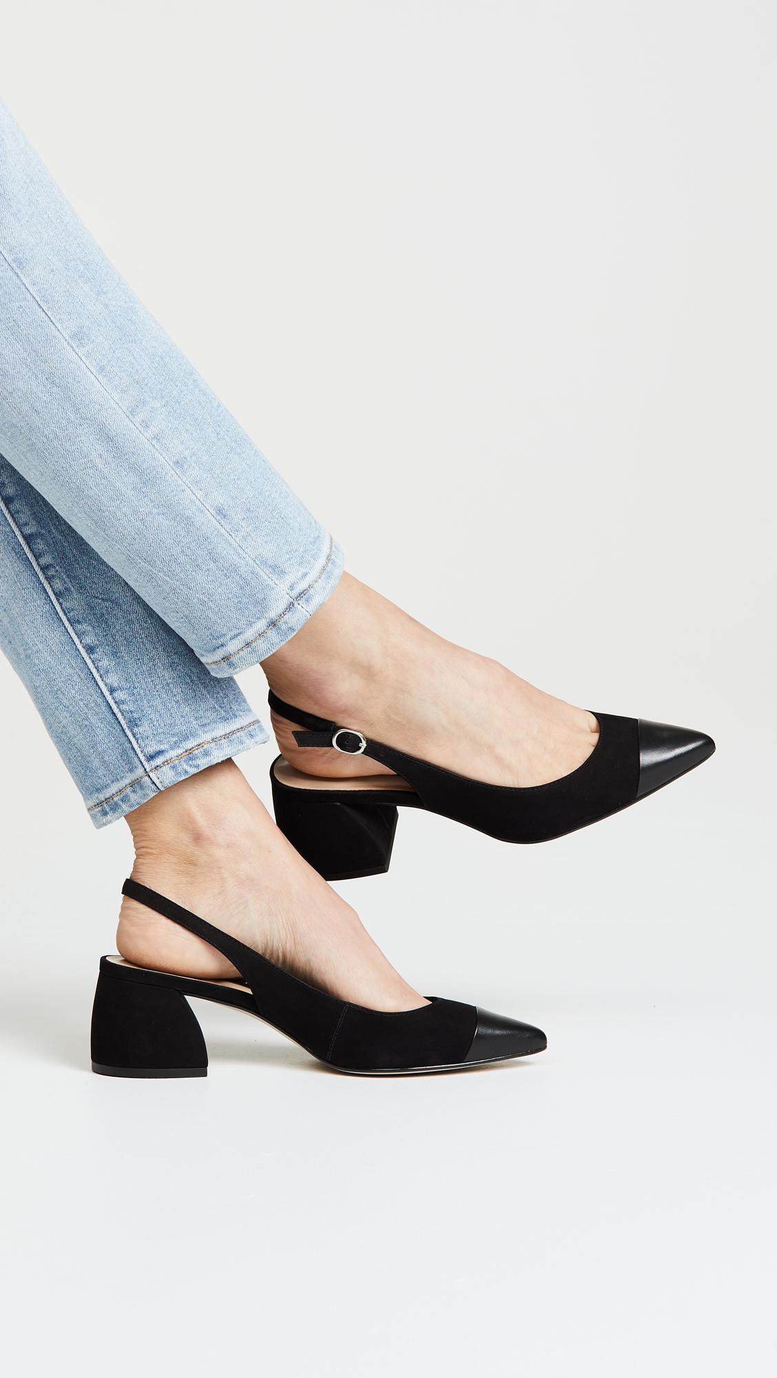 e5137a8b2fe Steven by Steve Madden Leather Agent Slingback Pumps in Black - Lyst