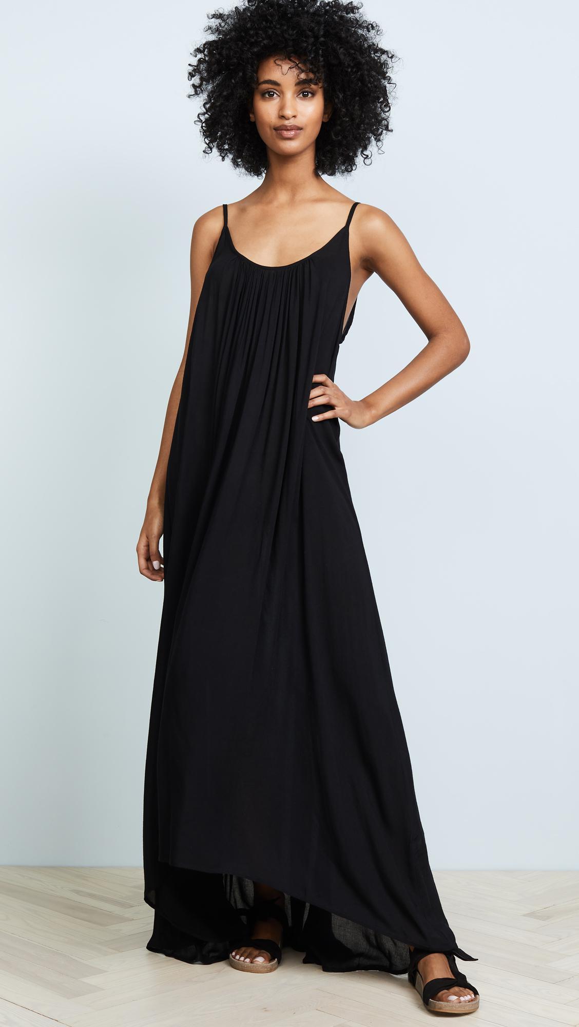 5d299f09865 Mikoh Swimwear Biarritz Maxi Dress in Black - Save 3% - Lyst