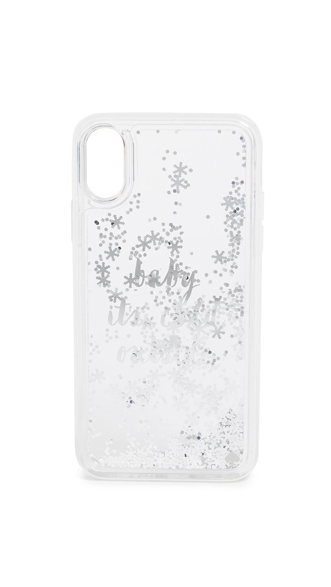 factory authentic b39dc 6ee03 Kate Spade White Baby It's Cold Outside Iphone X Case