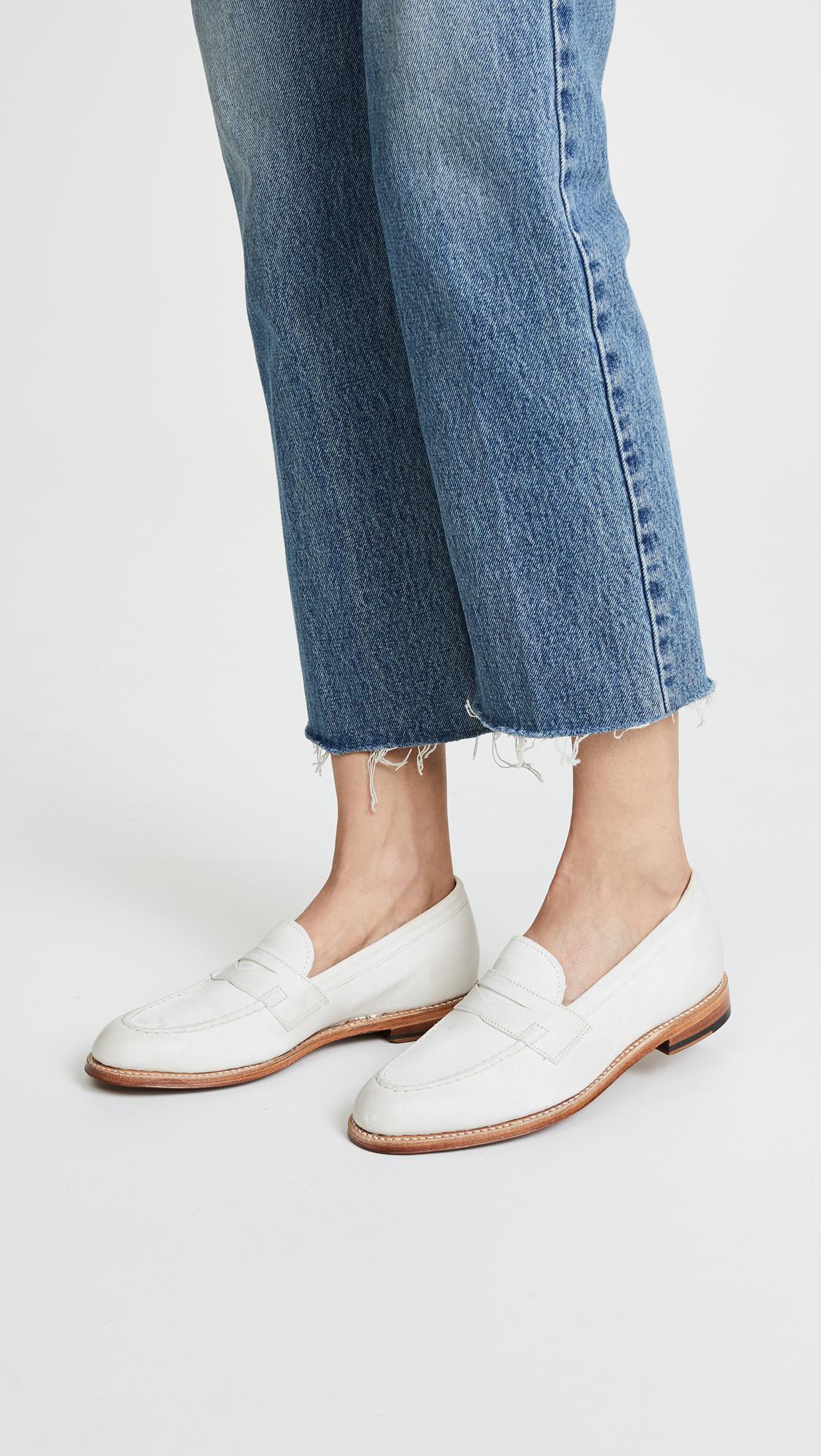 1341eb8b74c Grenson Fleur Loafers in White - Lyst