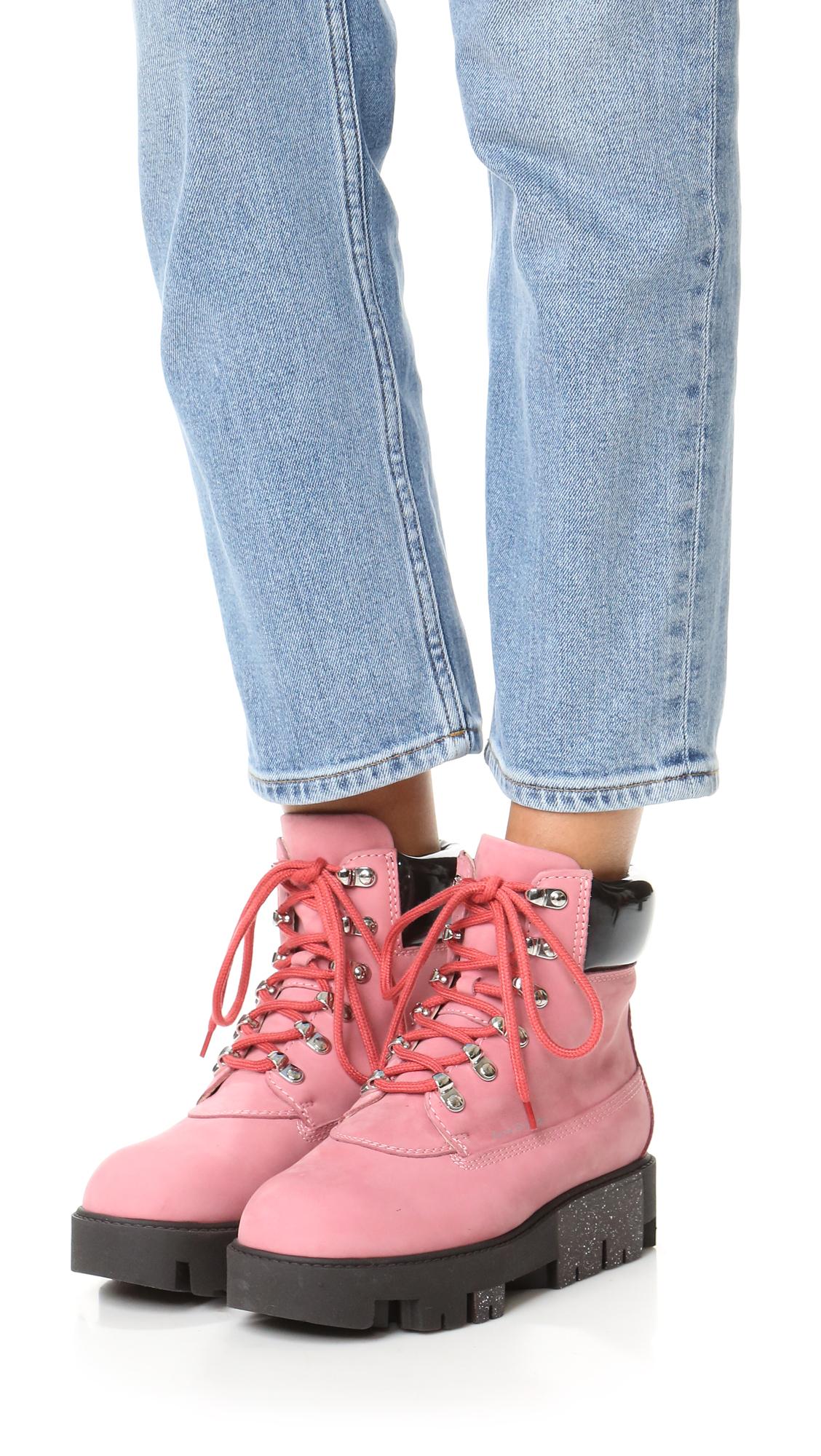 b24229a8ad5 Acne Studios Pink Telde Hiking Booties