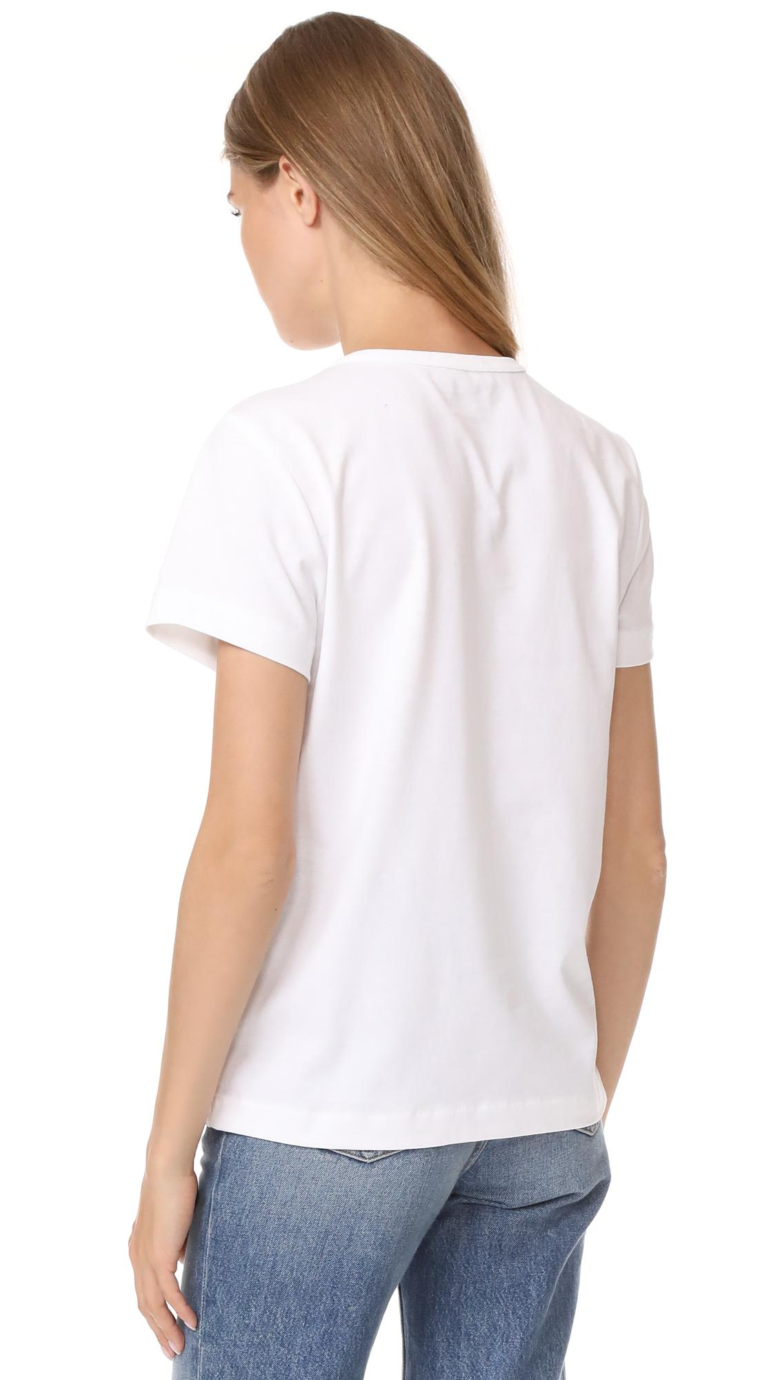 Lyst a p c apc hiver 1987 t shirt in white for Apc white t shirt