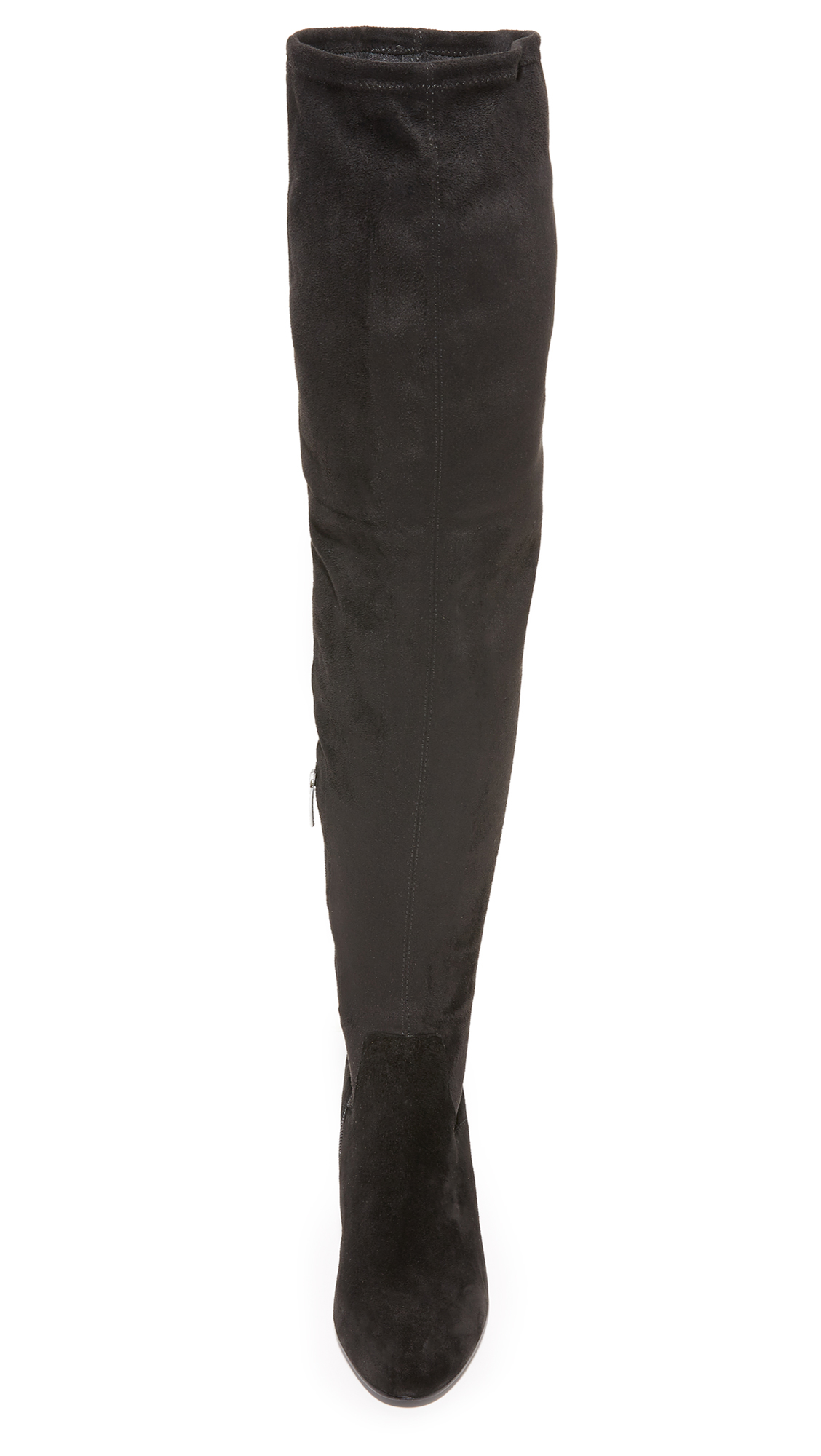 Ash Suede Elisa Thigh High Boots in Black