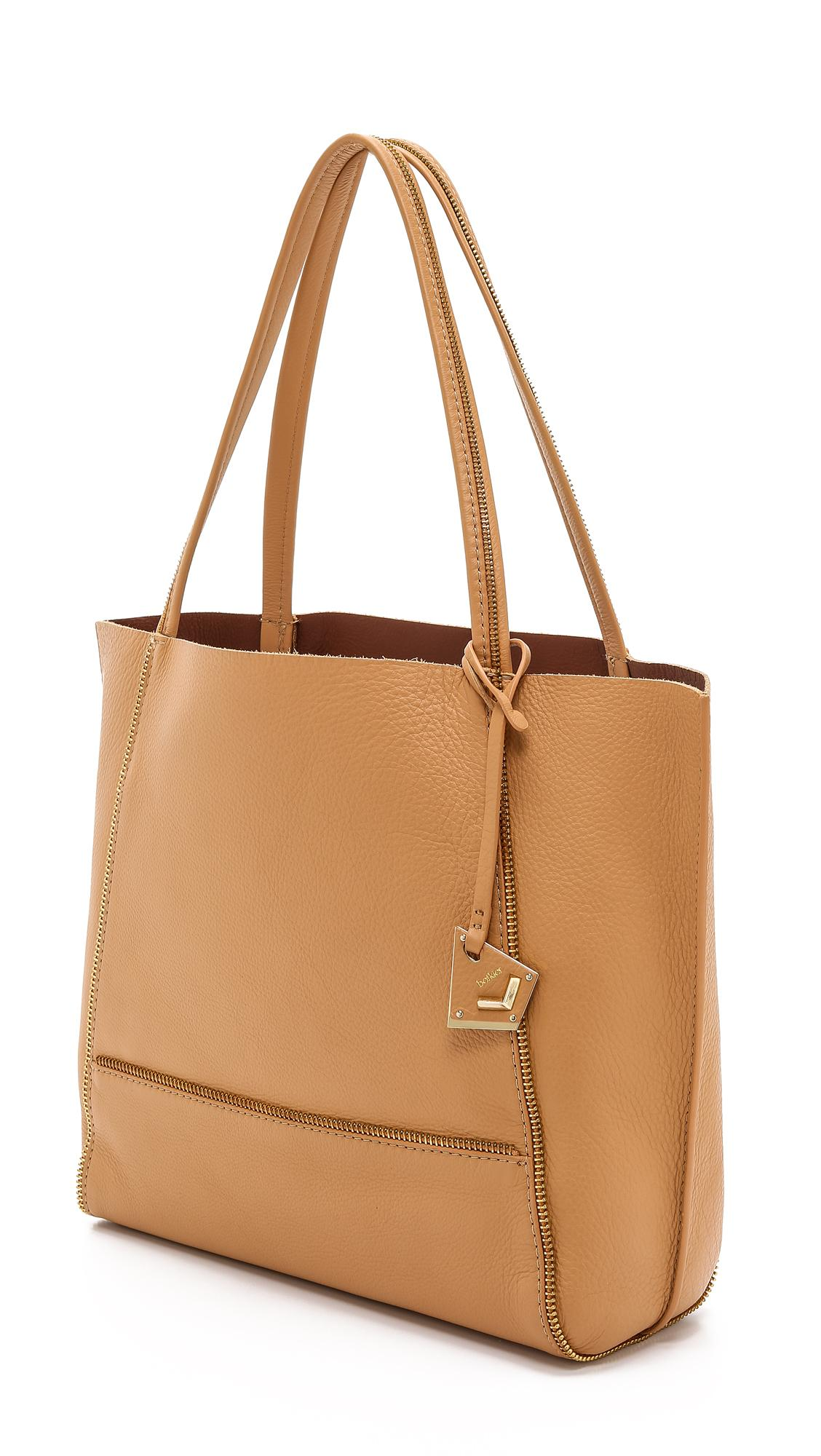 Botkier Leather Soho Tote in Camel/Gold (Brown)