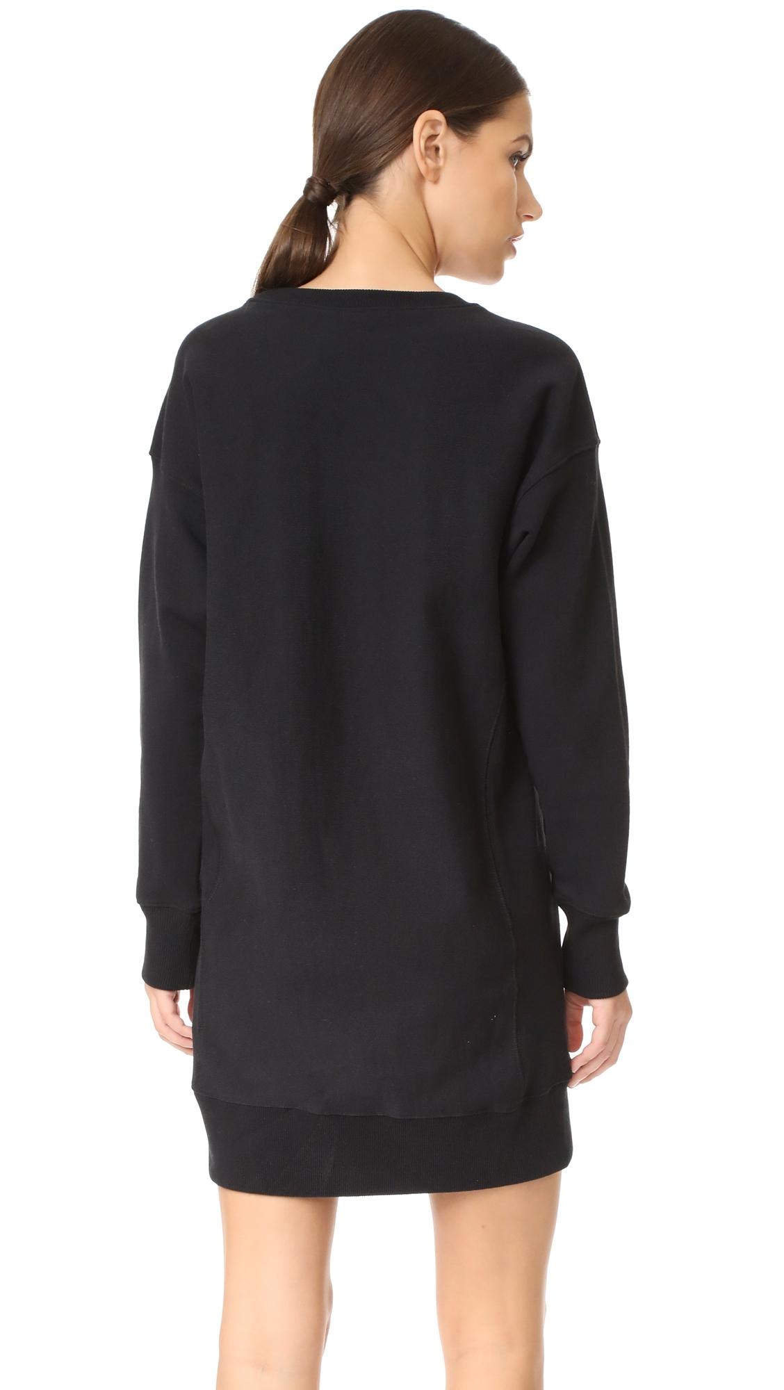 Champion Long Sleeve Dress In Black Lyst
