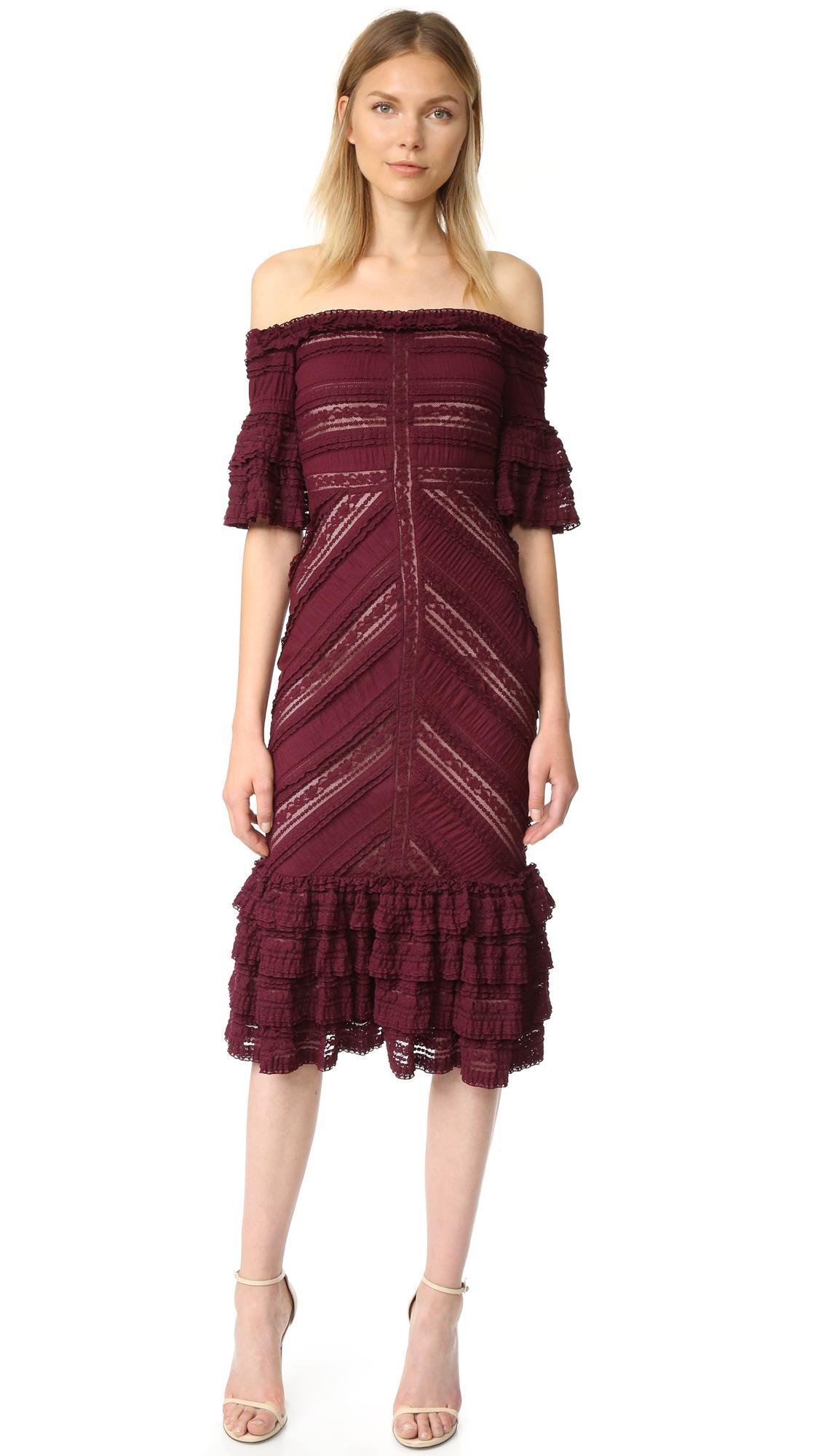 Cinq 192 Sept Lace Naya Dress In Purple Lyst