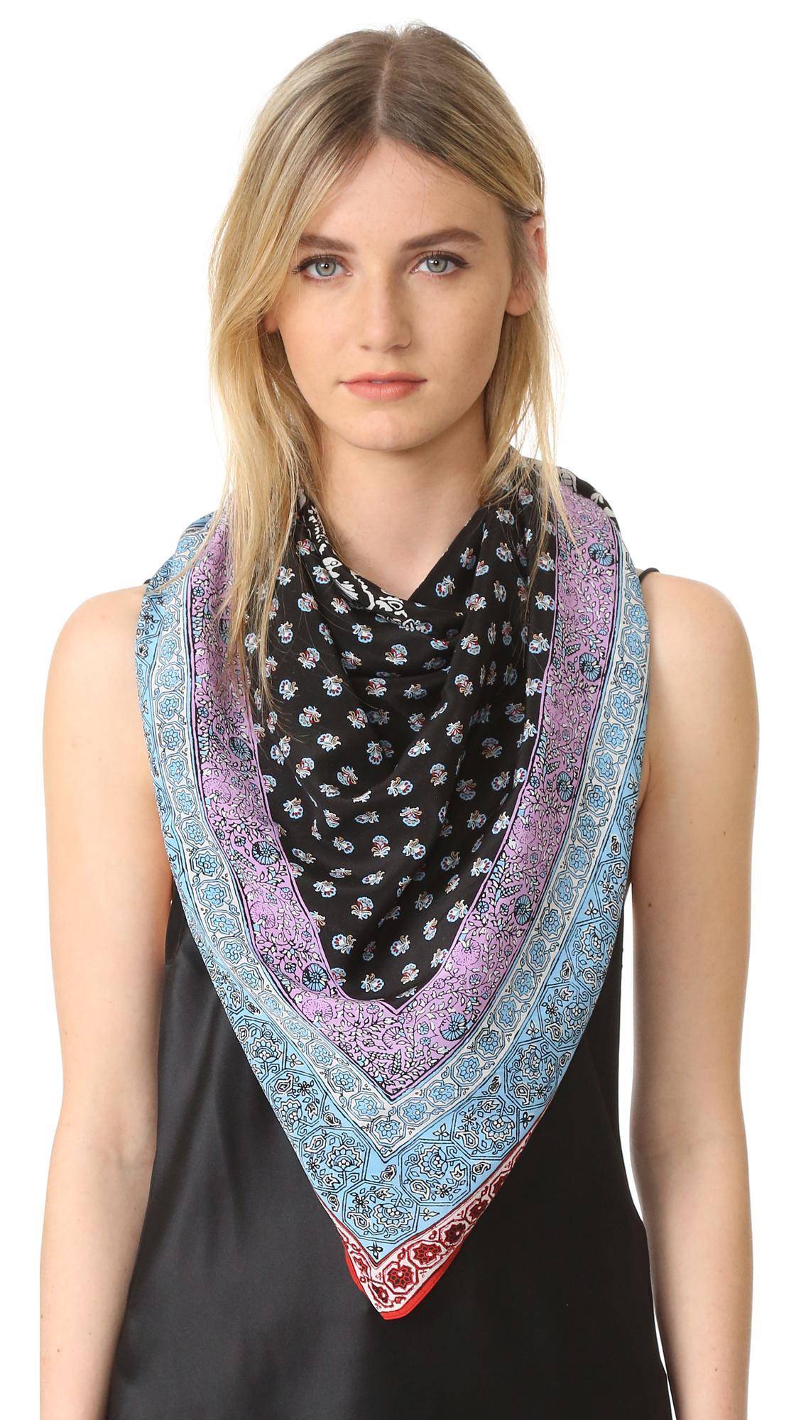 club monaco telsa silk scarf in blue lyst