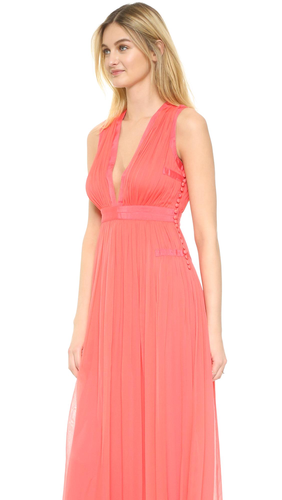 lyst diane von furstenberg lelani maxi dress in pink. Black Bedroom Furniture Sets. Home Design Ideas