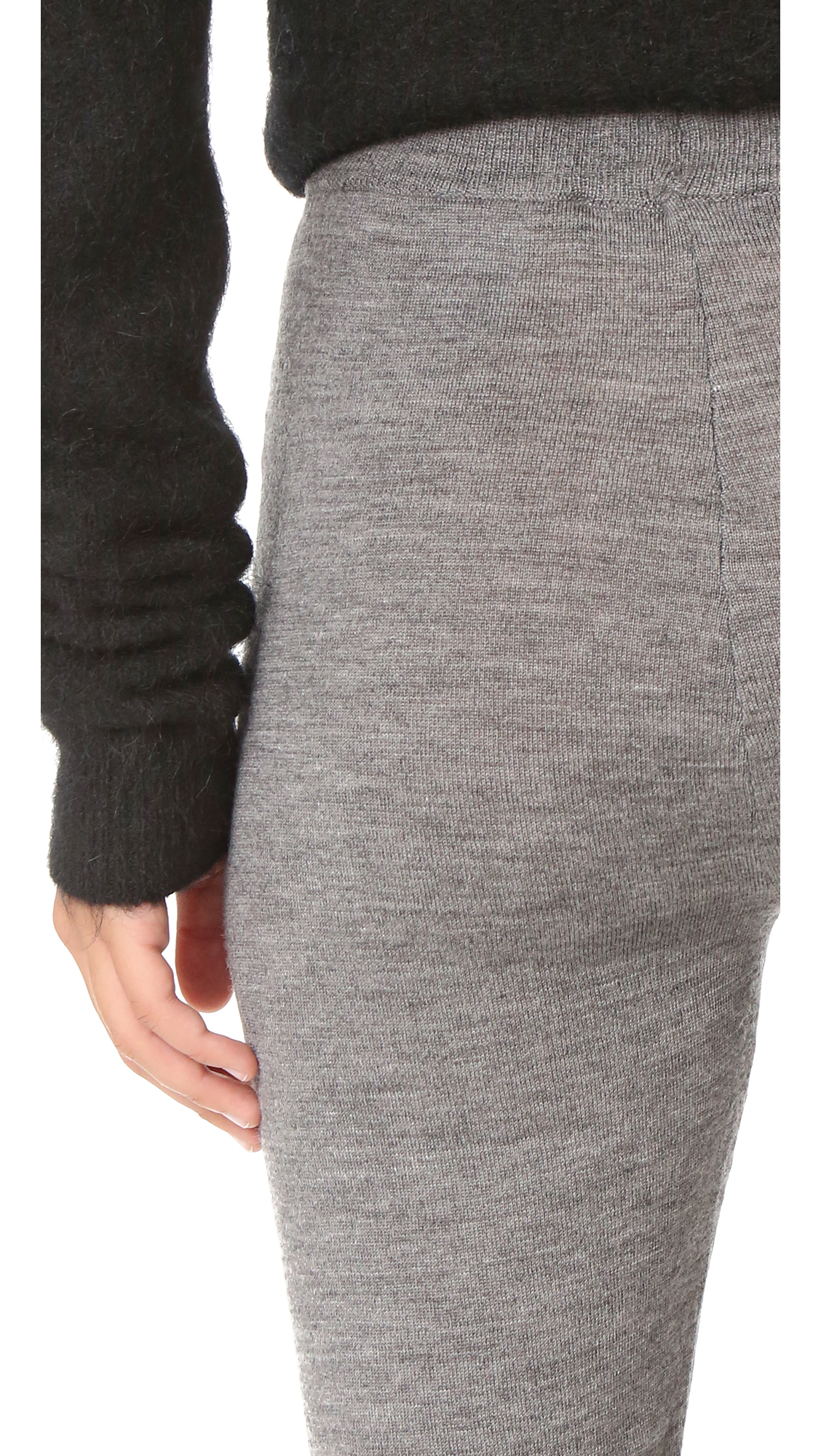 Designers Remix Wool Aza Leggings in Grey Melange (Grey)