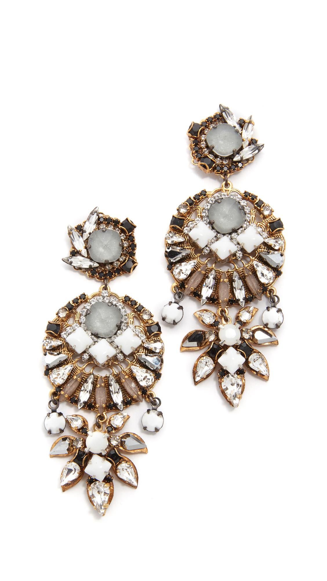 erickson beamon earrings in metallic lyst