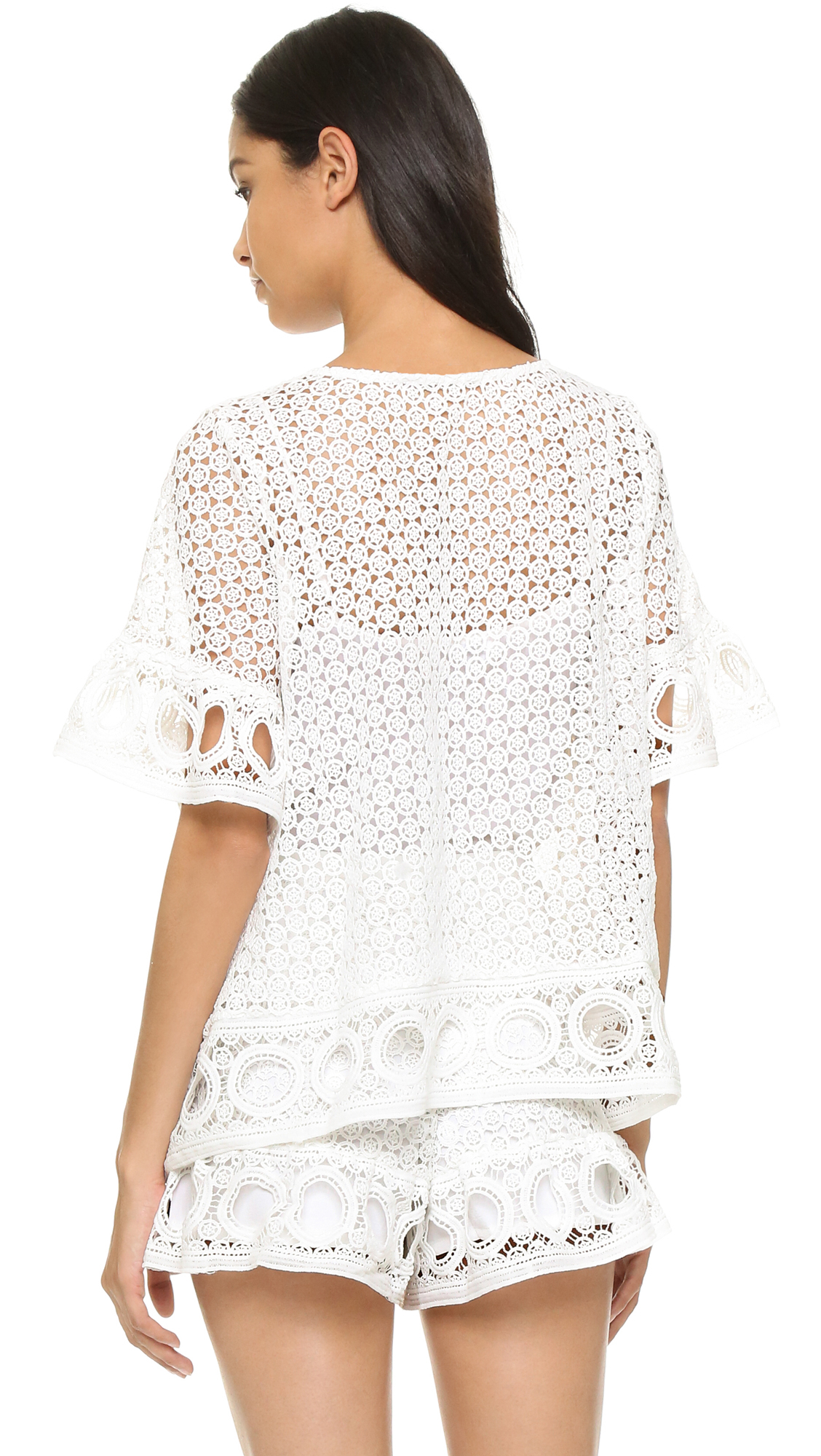 English factory Lace Blouse in White (Off White) | Lyst