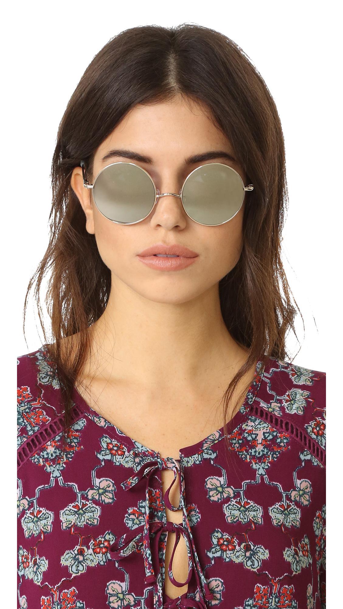 Elizabeth and James Mott Round Sunglasses in Metallic