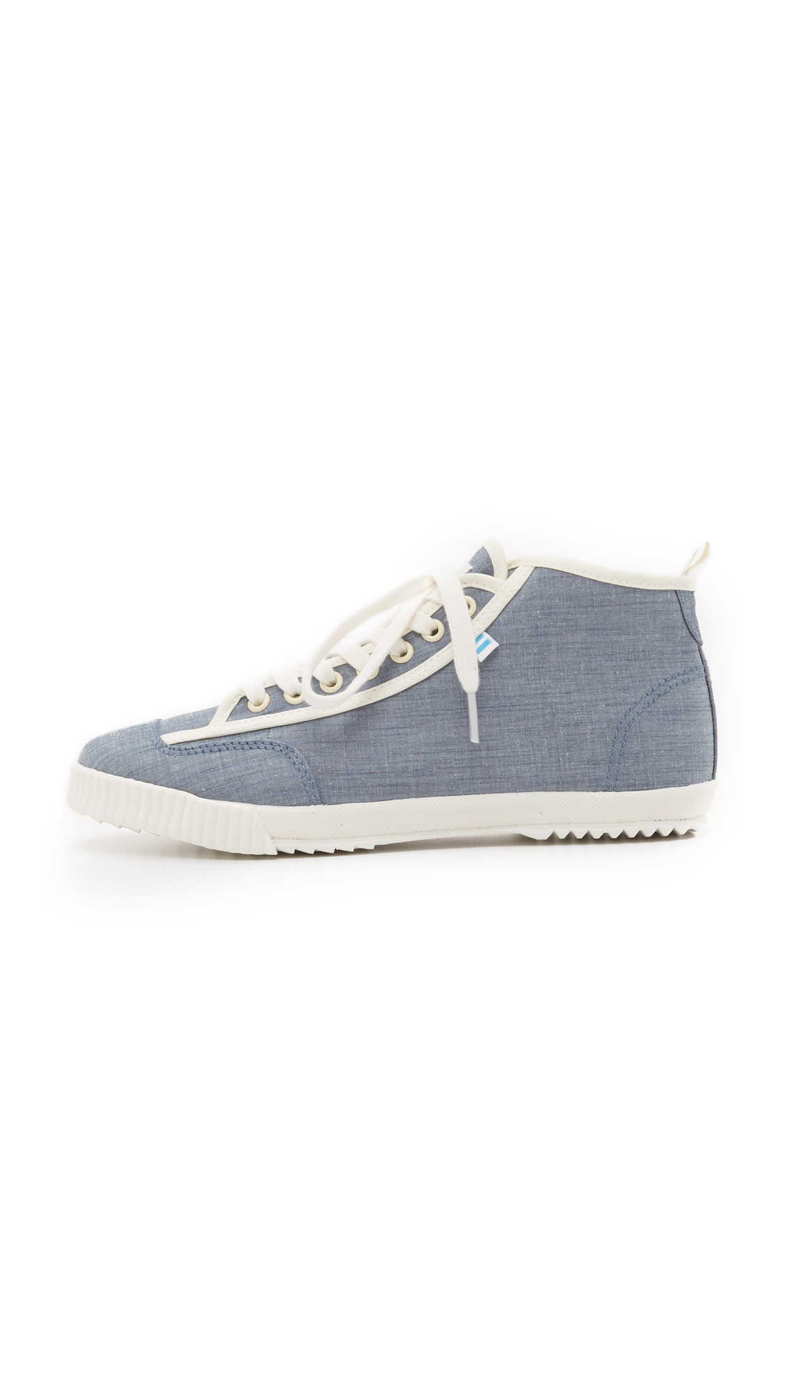 Feiyue Canvas X Solid & Striped Candice Sneakers in White