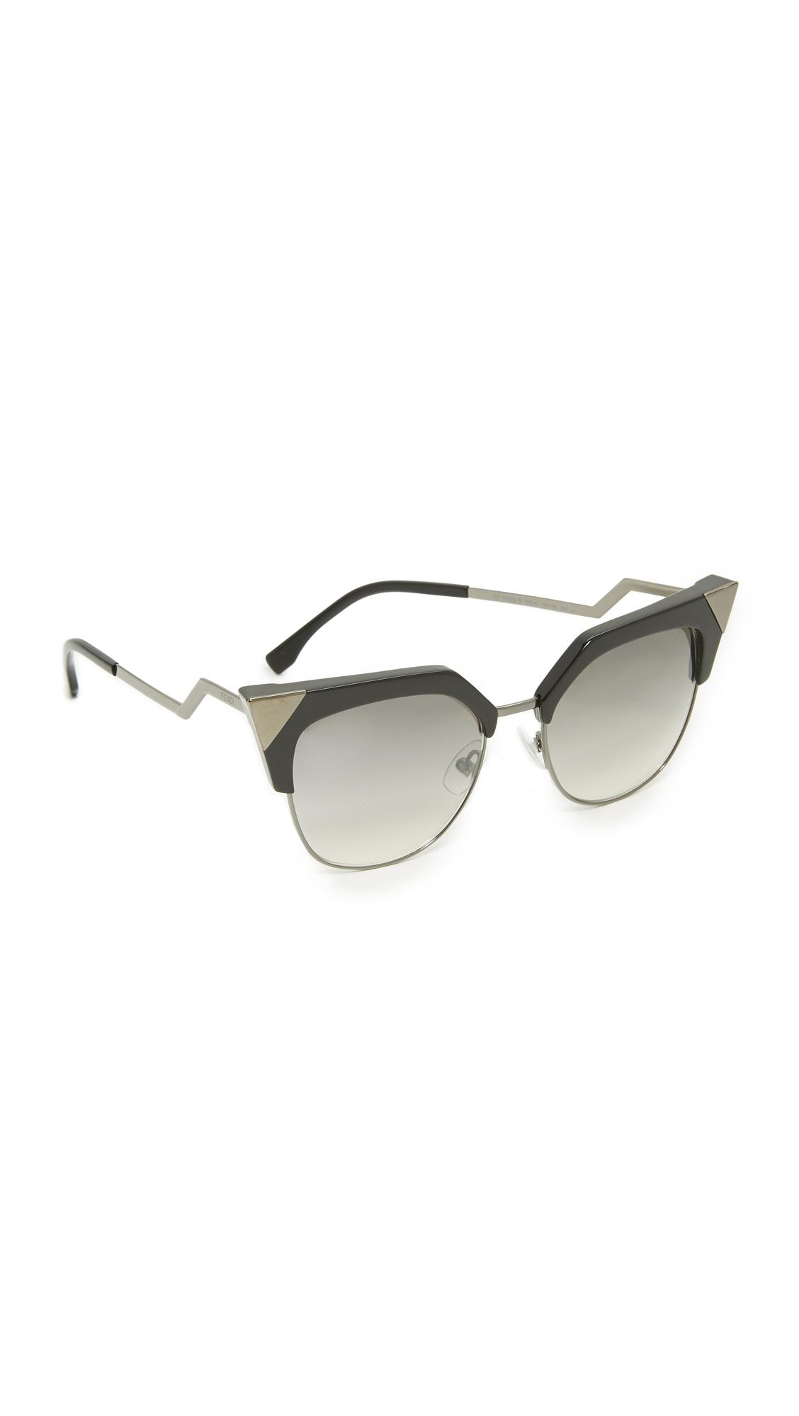 05e3600b9b70 Lyst - Fendi Iridia Crystal Corner Sunglasses in Gray