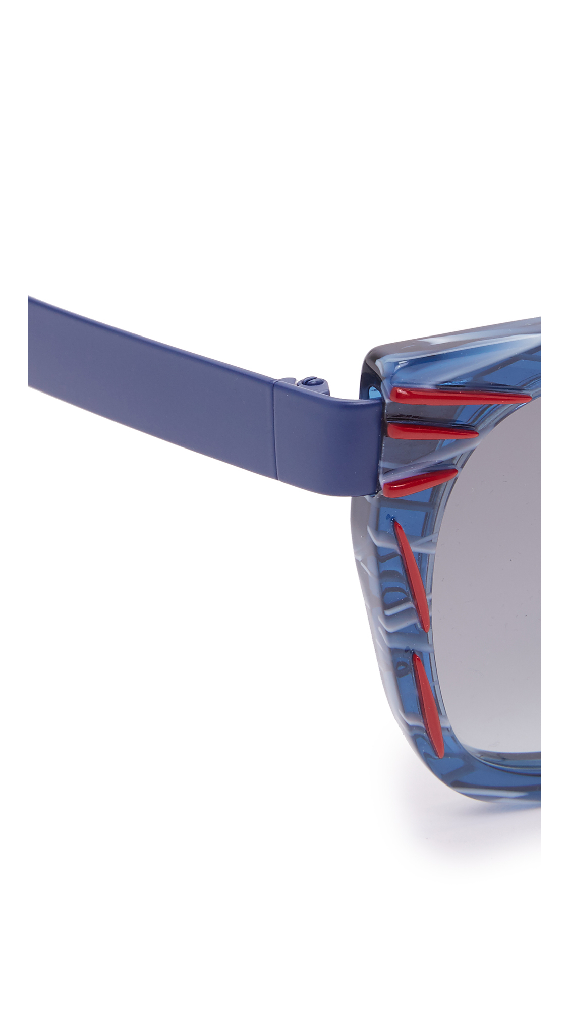 Fendi Thierry Lasry X Kinky Sunglasses in Red Dark Blue/Grey (Grey)