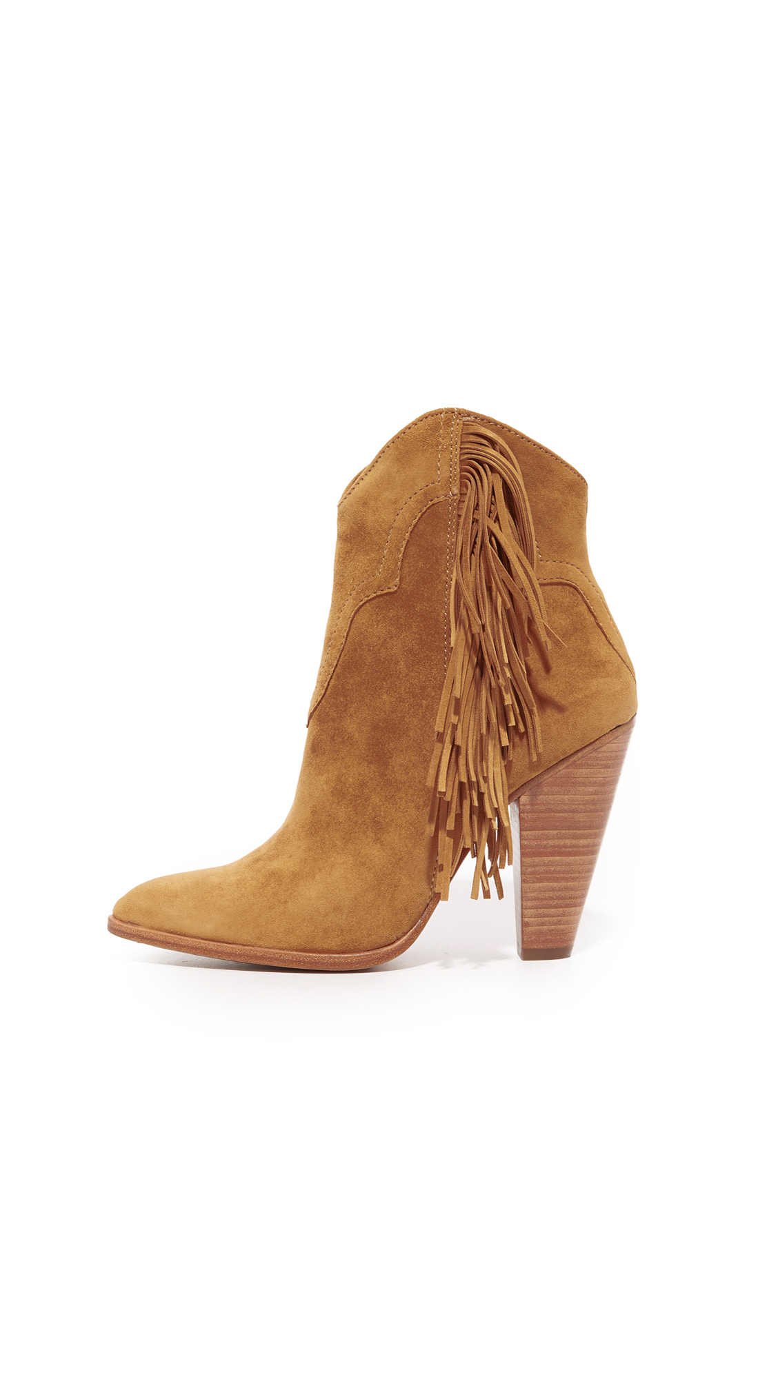 Frye Leather Remy Fringe Short Booties