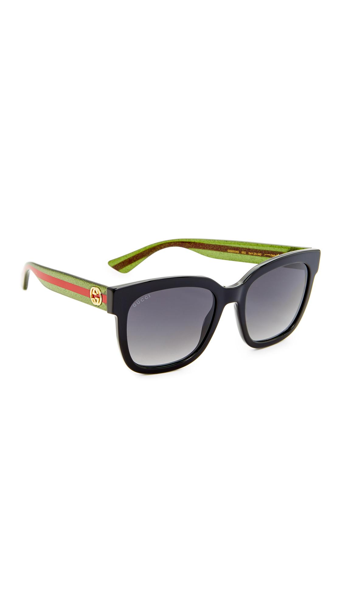 adee7e21b0 Gucci Glitter Gradient Oversized Square Sunglasses