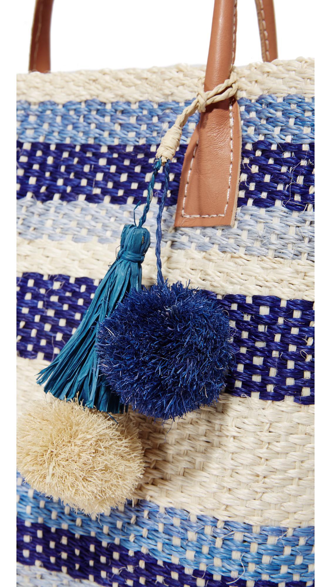 Hat Attack Small Provence Tote in Blue Stripe (Blue)