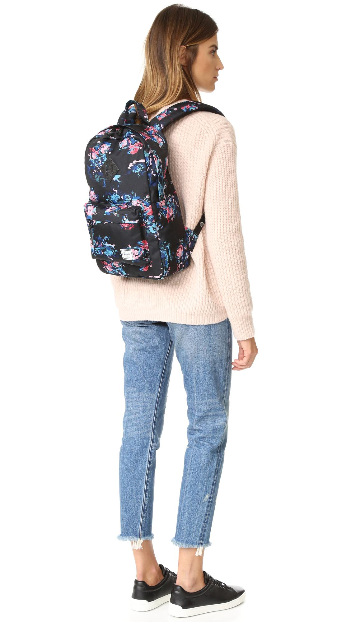 3f9db4795e3 Herschel Supply Co. Heritage Mid Volume Backpack in Black - Lyst