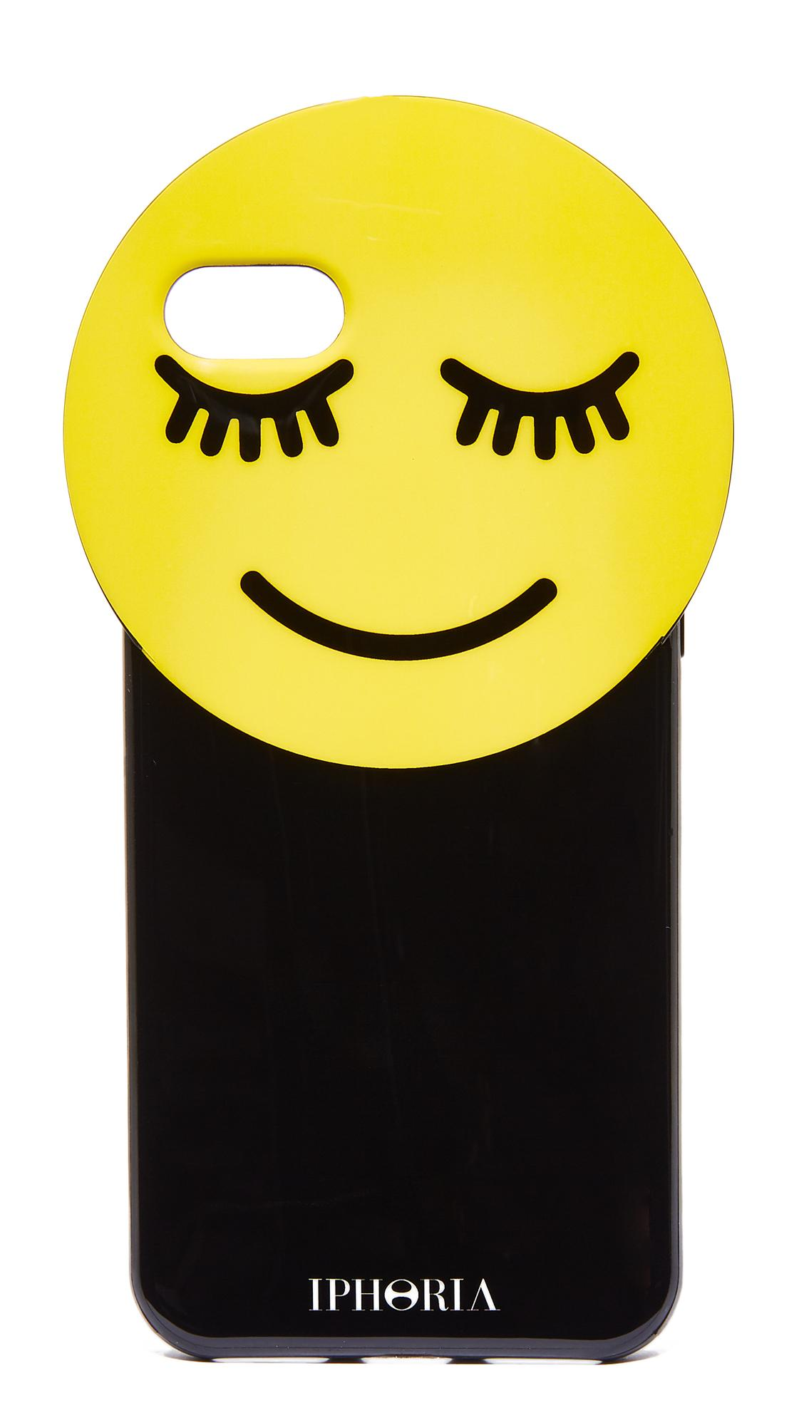 lyst iphoria smiley iphone 7 case in yellow. Black Bedroom Furniture Sets. Home Design Ideas