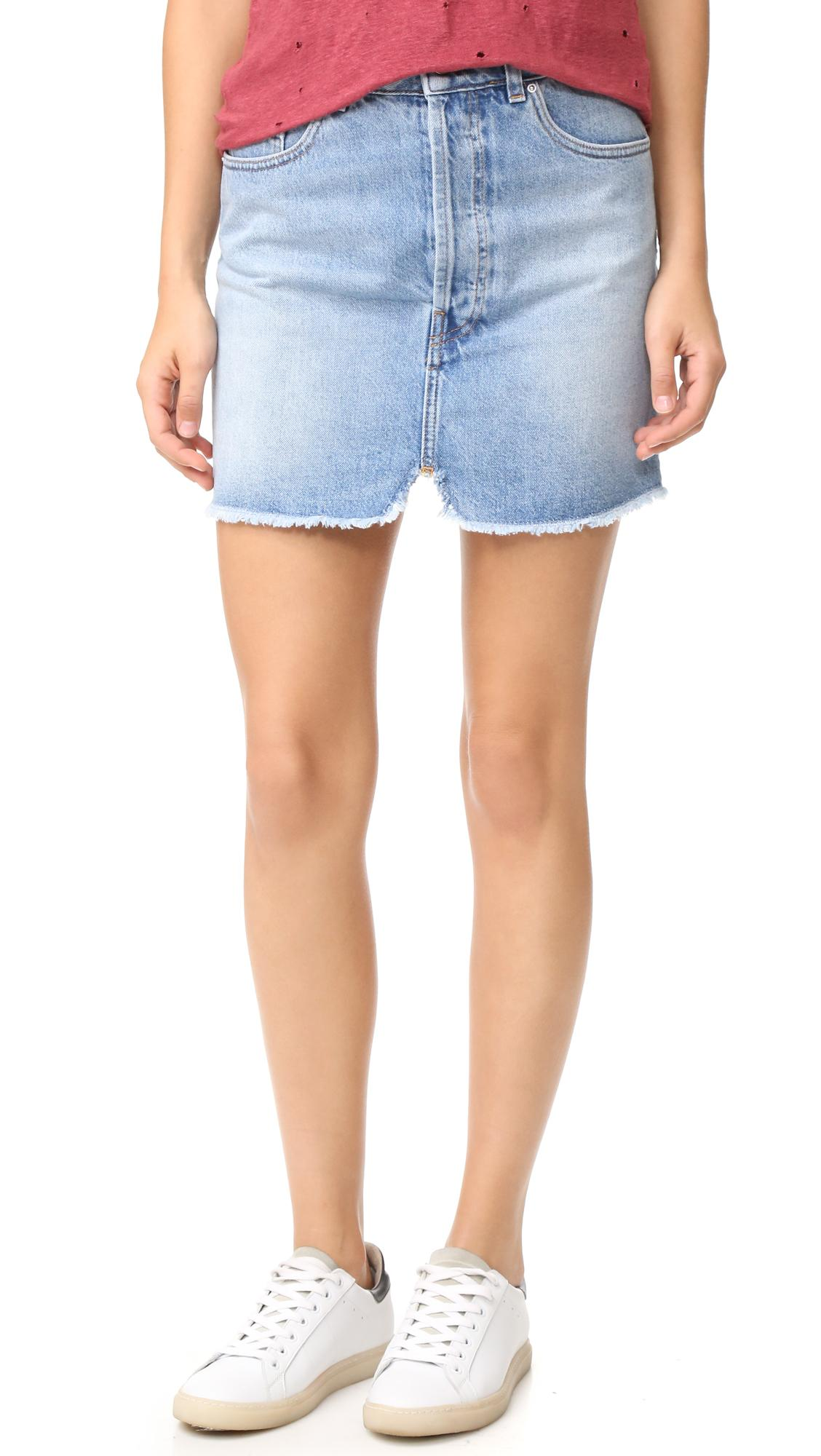 4190e53061 Lyst - IRO Taig Denim Skirt in Blue