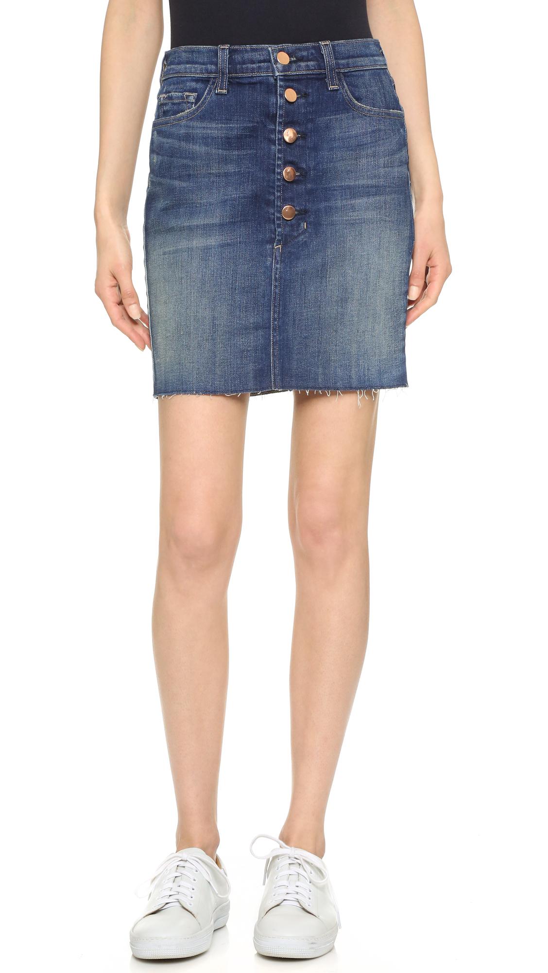 j brand rosalie denim mini skirt in blue save 41 lyst